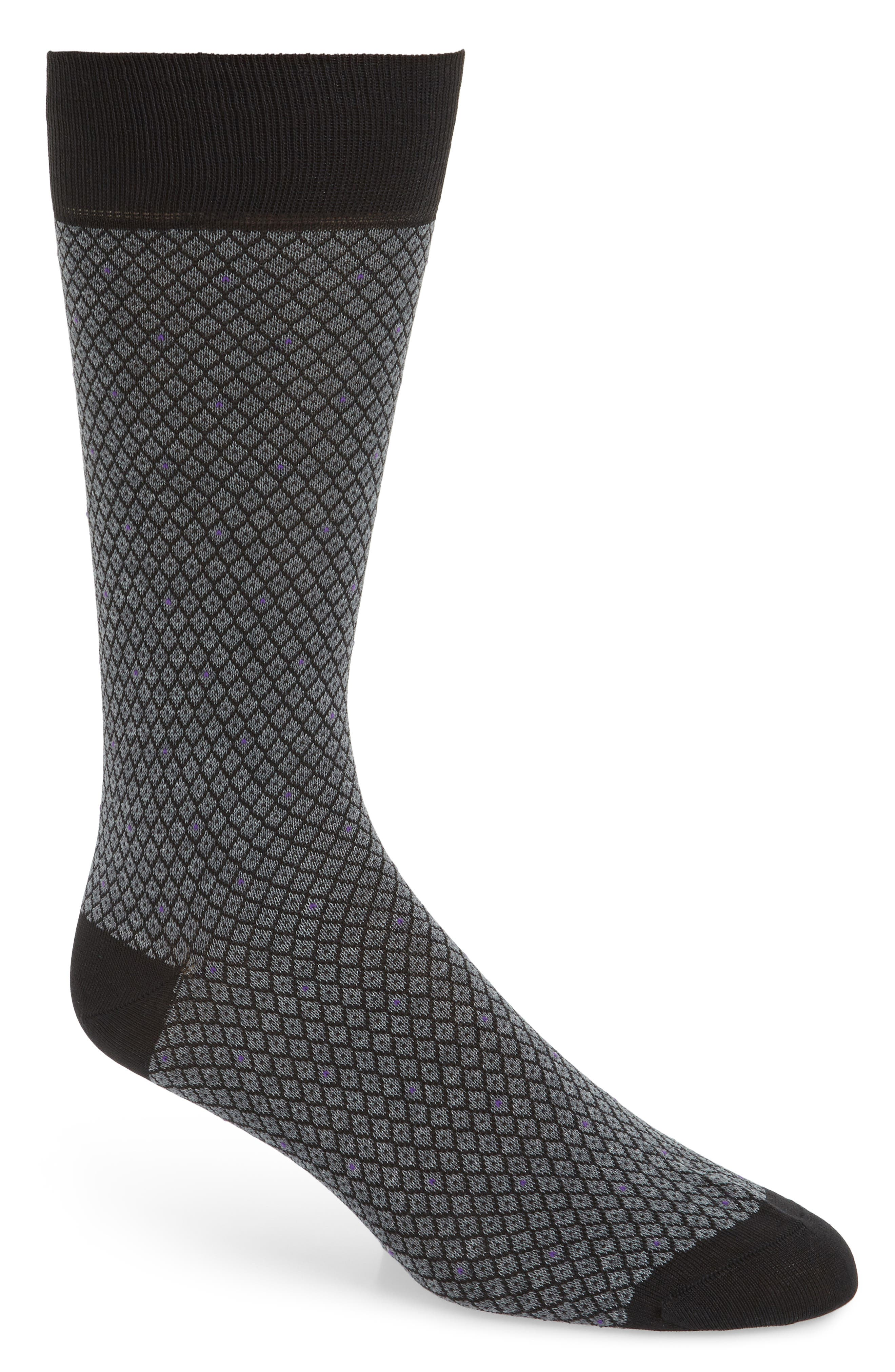 Diamond Jacquard Socks,                             Main thumbnail 1, color,                             020