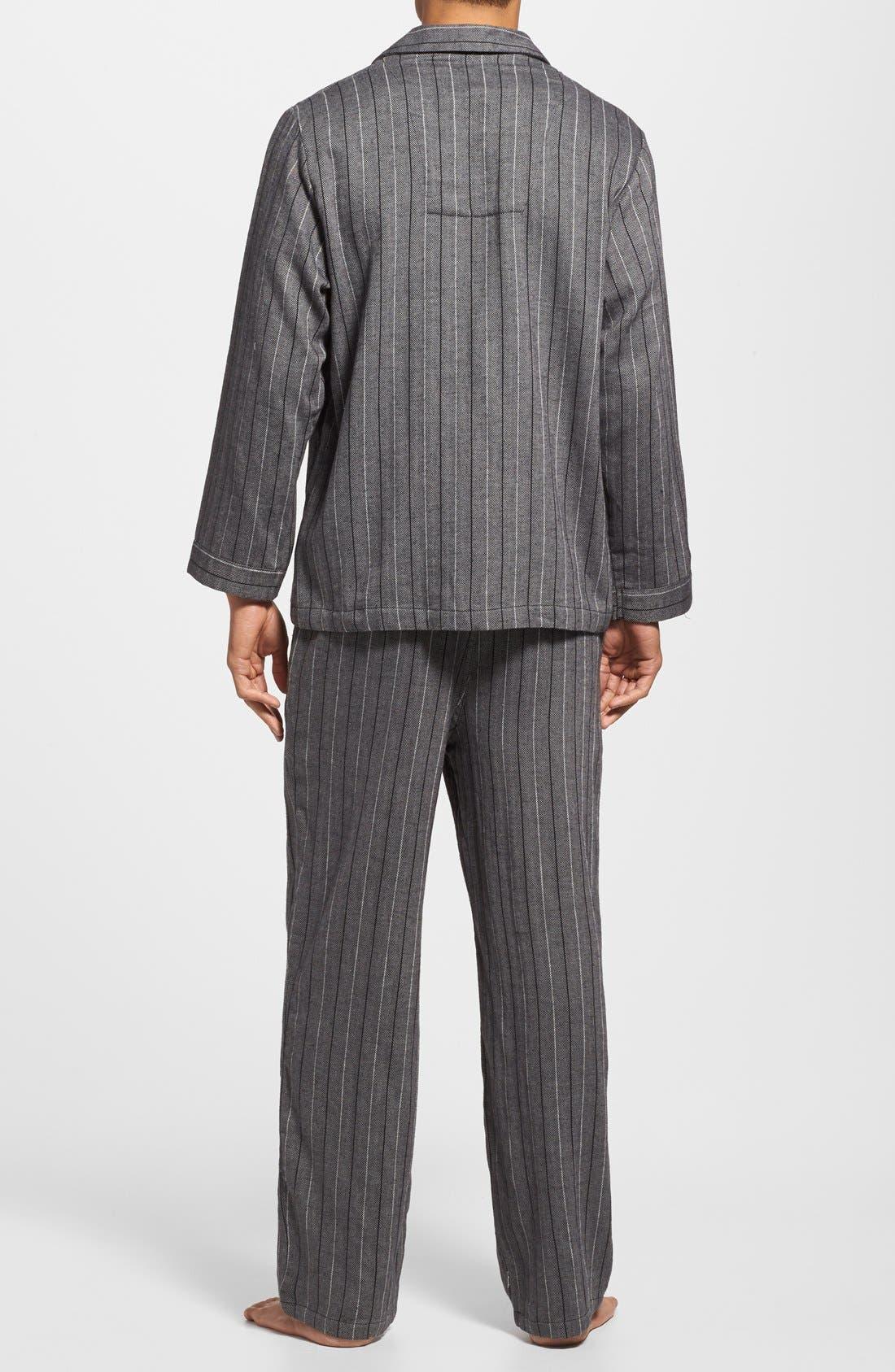 '824' Flannel Pajama Set,                             Alternate thumbnail 72, color,