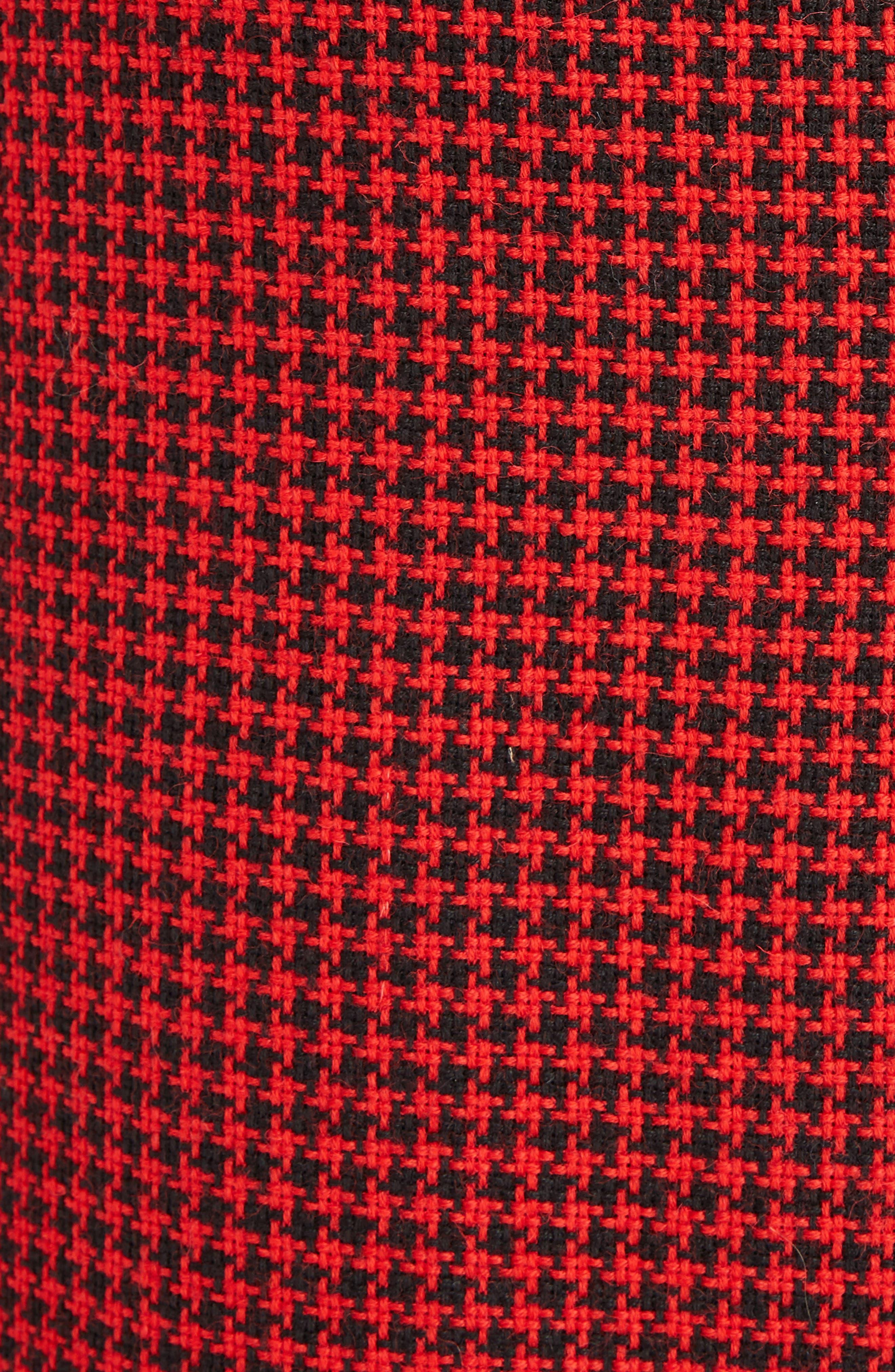 Christofor Houndstooth Wool Skirt,                             Alternate thumbnail 5, color,                             623