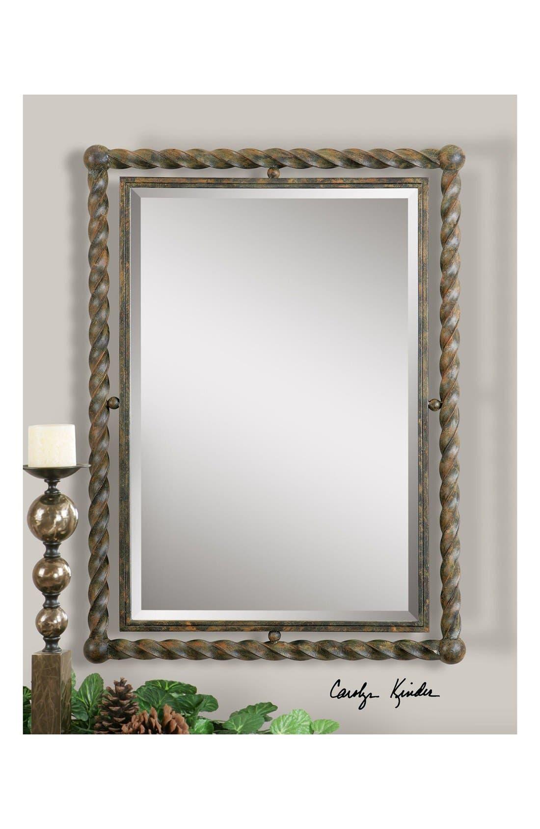 'Garrick' Wrought Iron Mirror,                             Alternate thumbnail 5, color,                             200