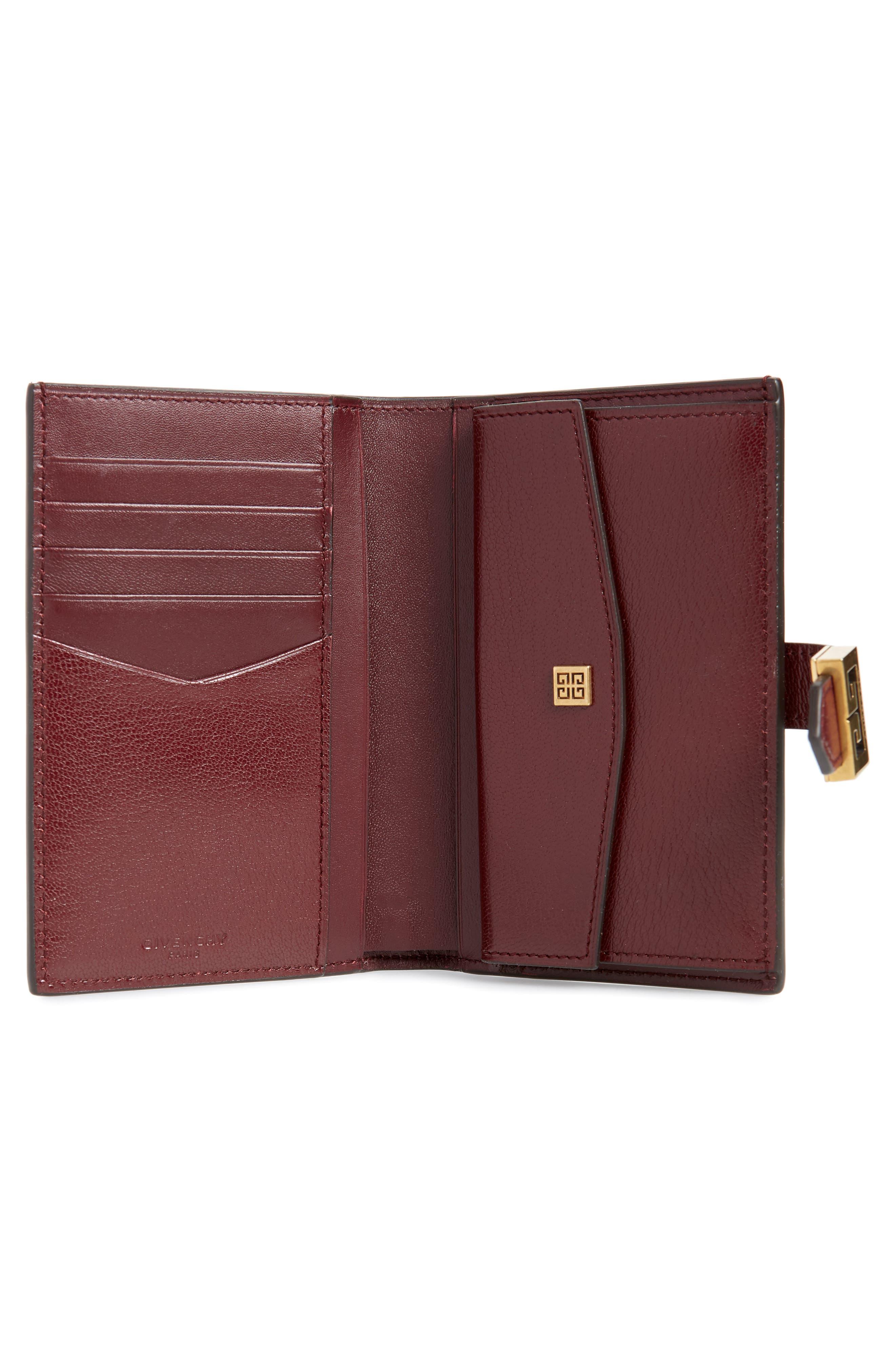 Medium GV3 Diamond Quilted Leather Wallet,                             Alternate thumbnail 2, color,                             AUBERGINE