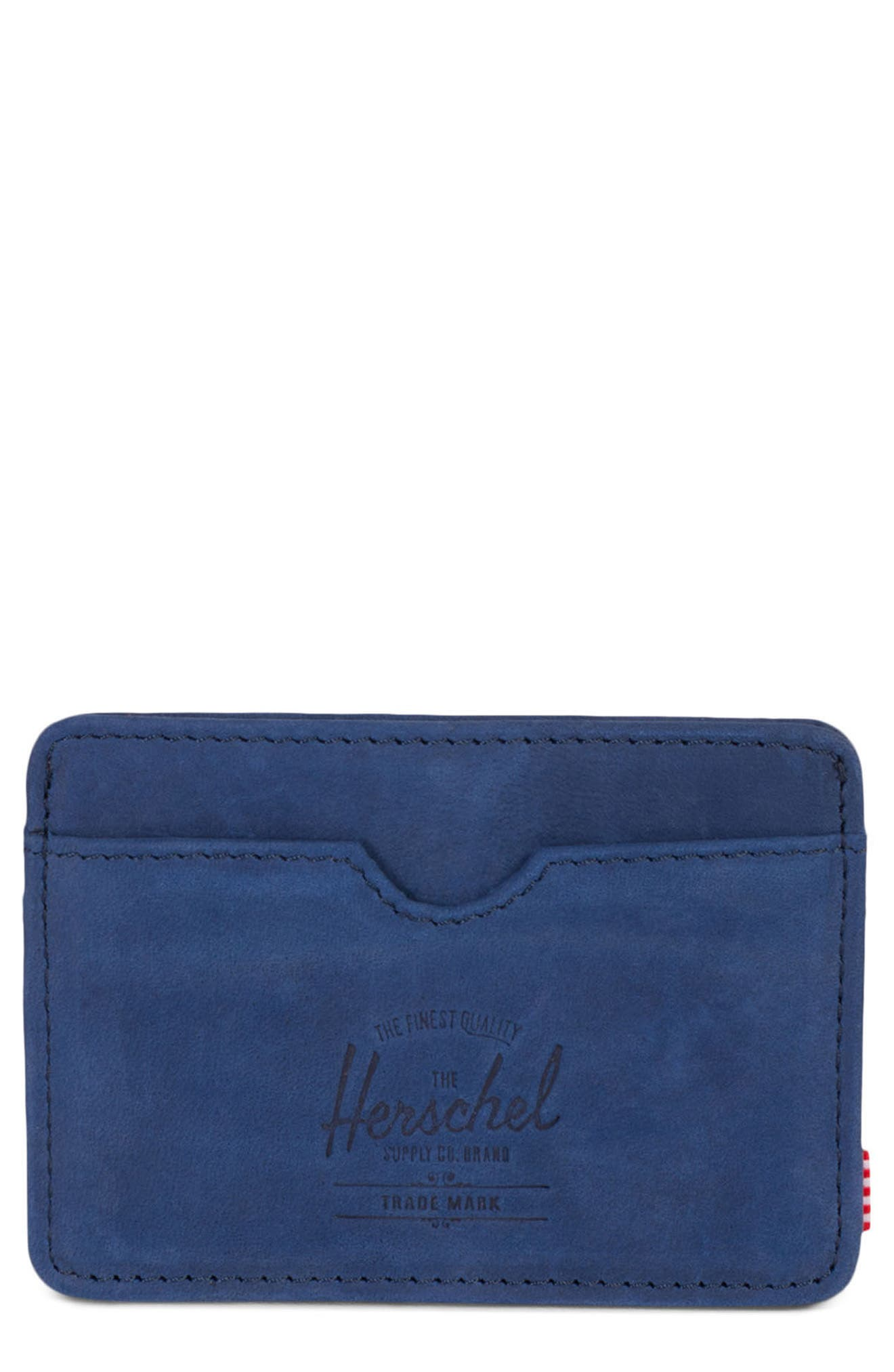 Charlie Leather Card Case,                             Main thumbnail 4, color,