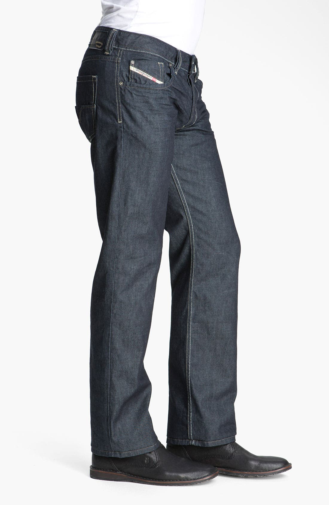 'Larkee' Straight Leg Jeans,                             Alternate thumbnail 4, color,                             400