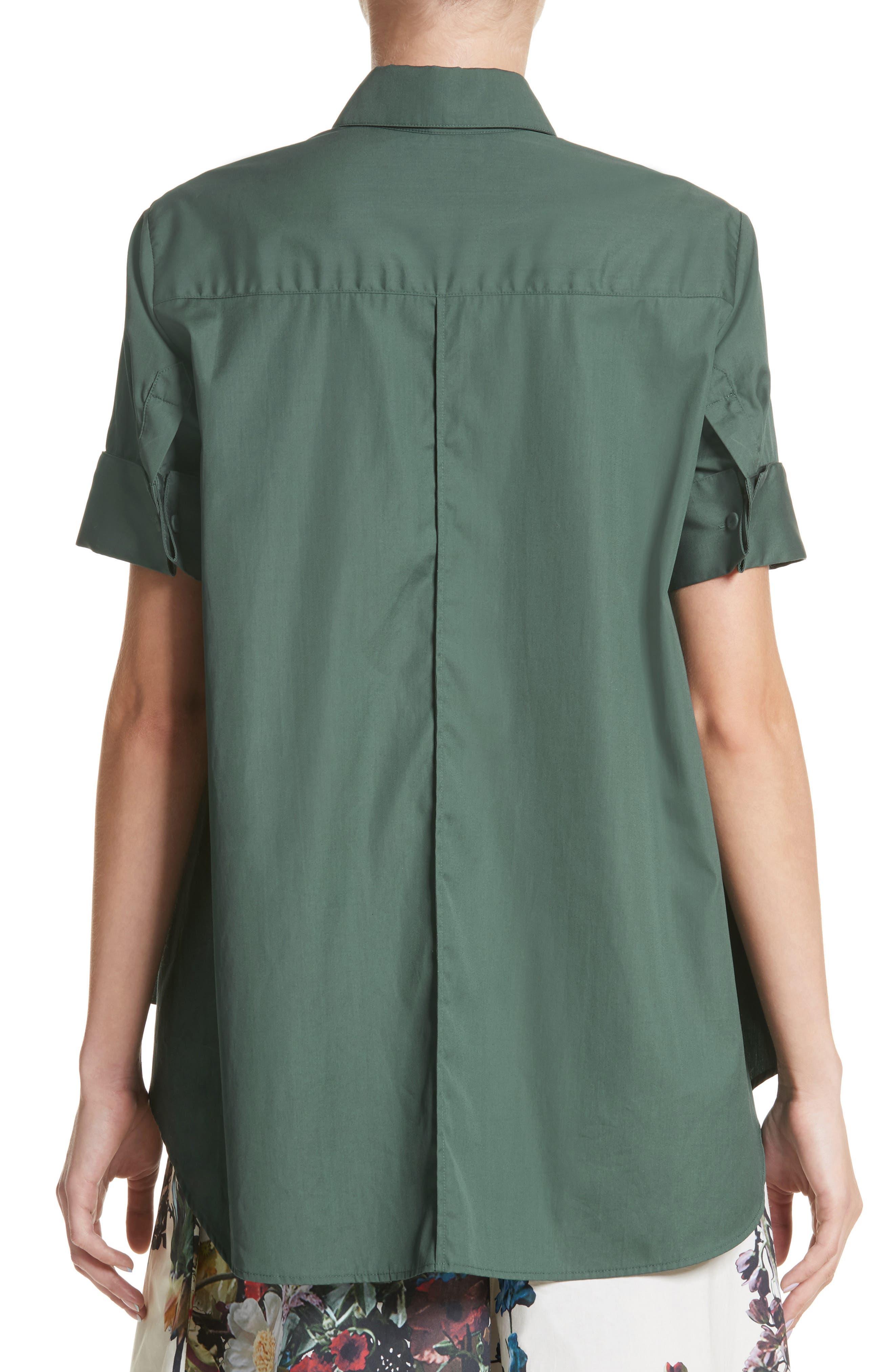 Cotton Poplin Trapeze Shirt,                             Alternate thumbnail 2, color,                             310