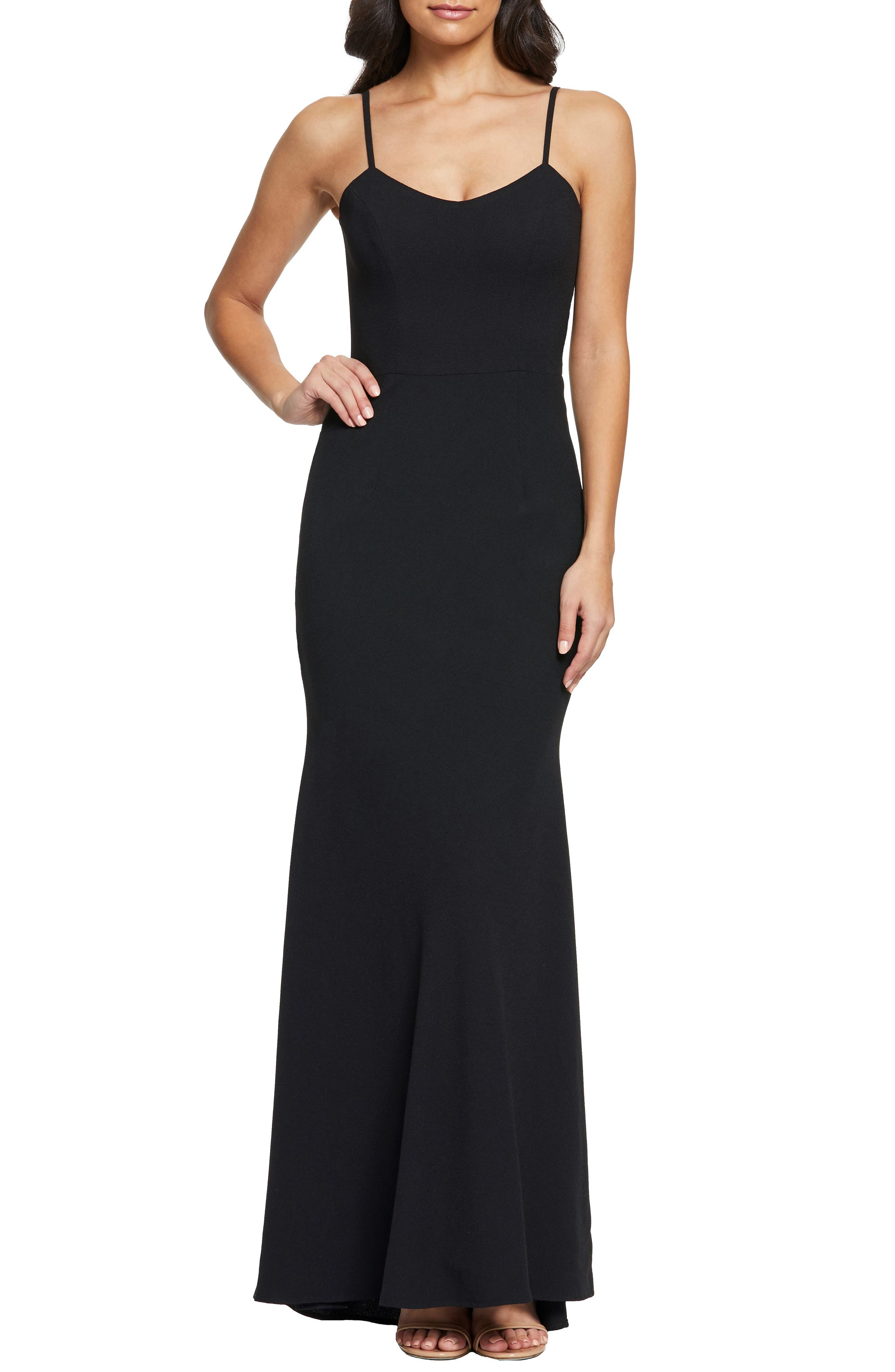 Dress The Population Jodi Crepe Evening Dress, Black