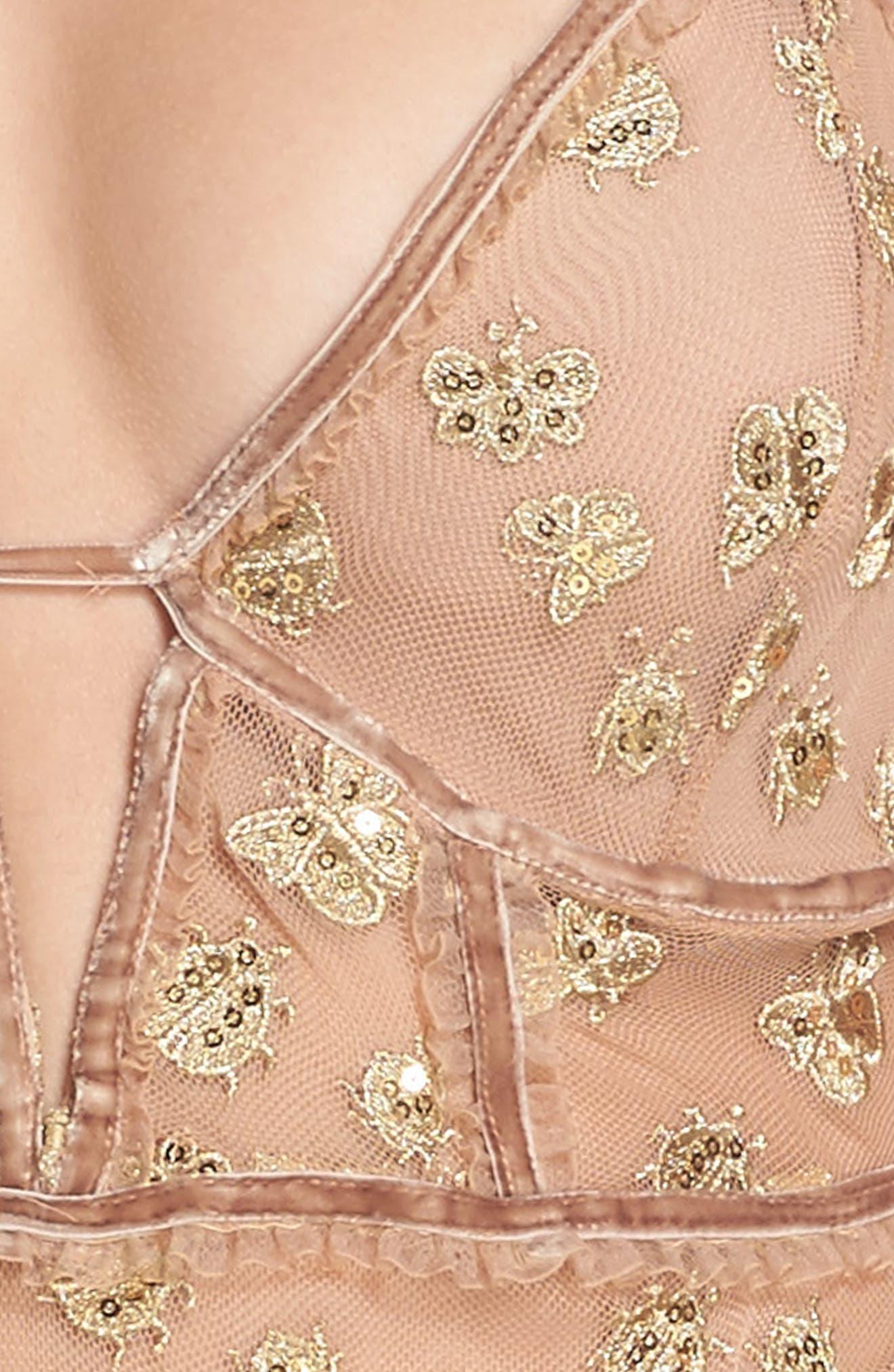 Golden Garden Embroidered Bodysuit,                             Alternate thumbnail 4, color,
