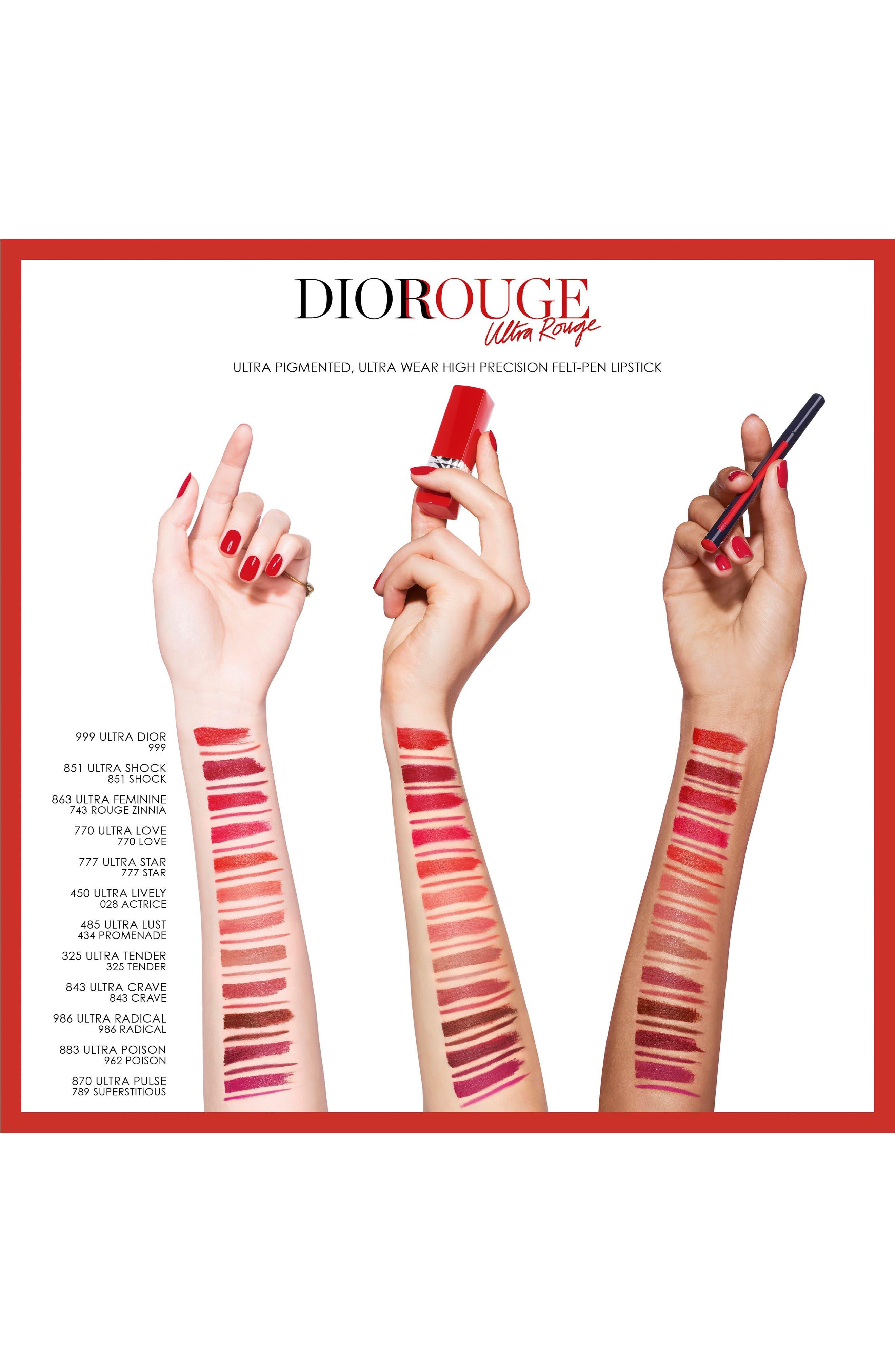 DIOR,                             Rouge Dior Ink Lip Liner,                             Alternate thumbnail 2, color,                             843 CRAVE