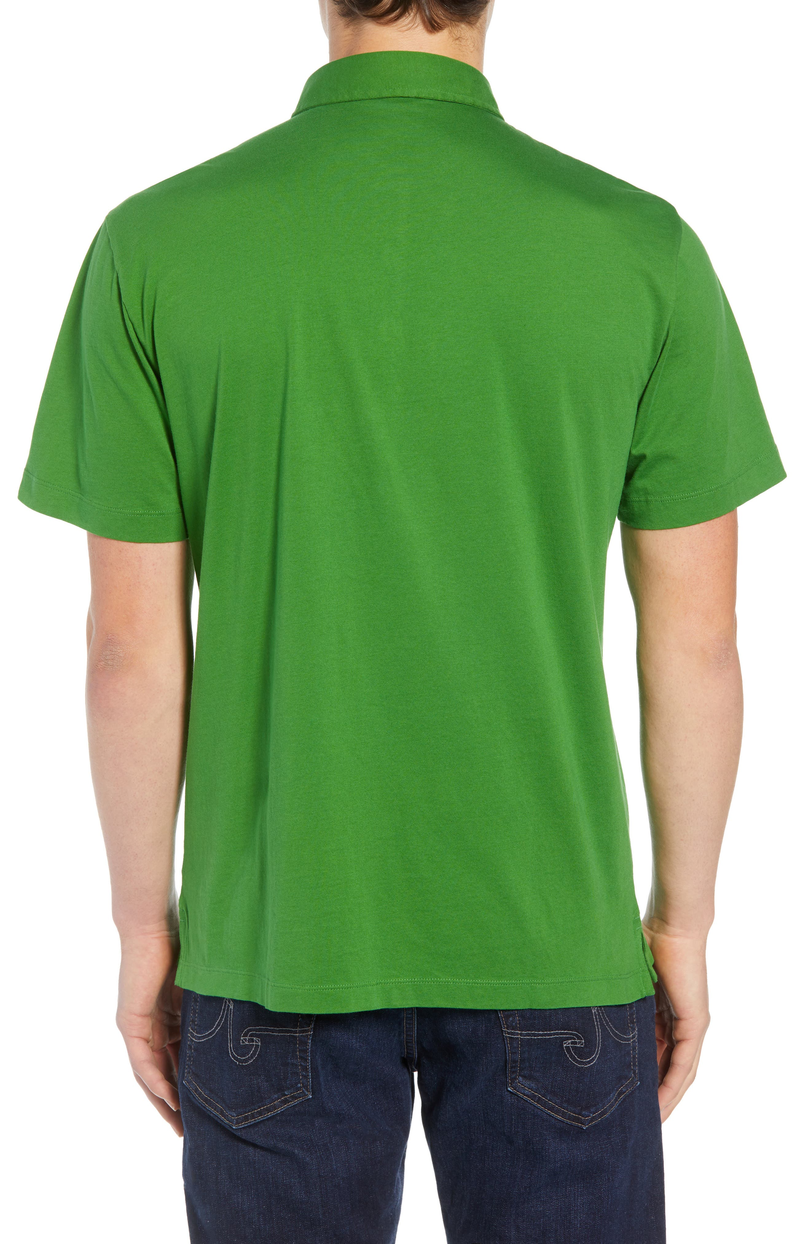 'Trout Fitz Roy' Organic Cotton Polo,                             Alternate thumbnail 2, color,                             MYRTLE GREEN