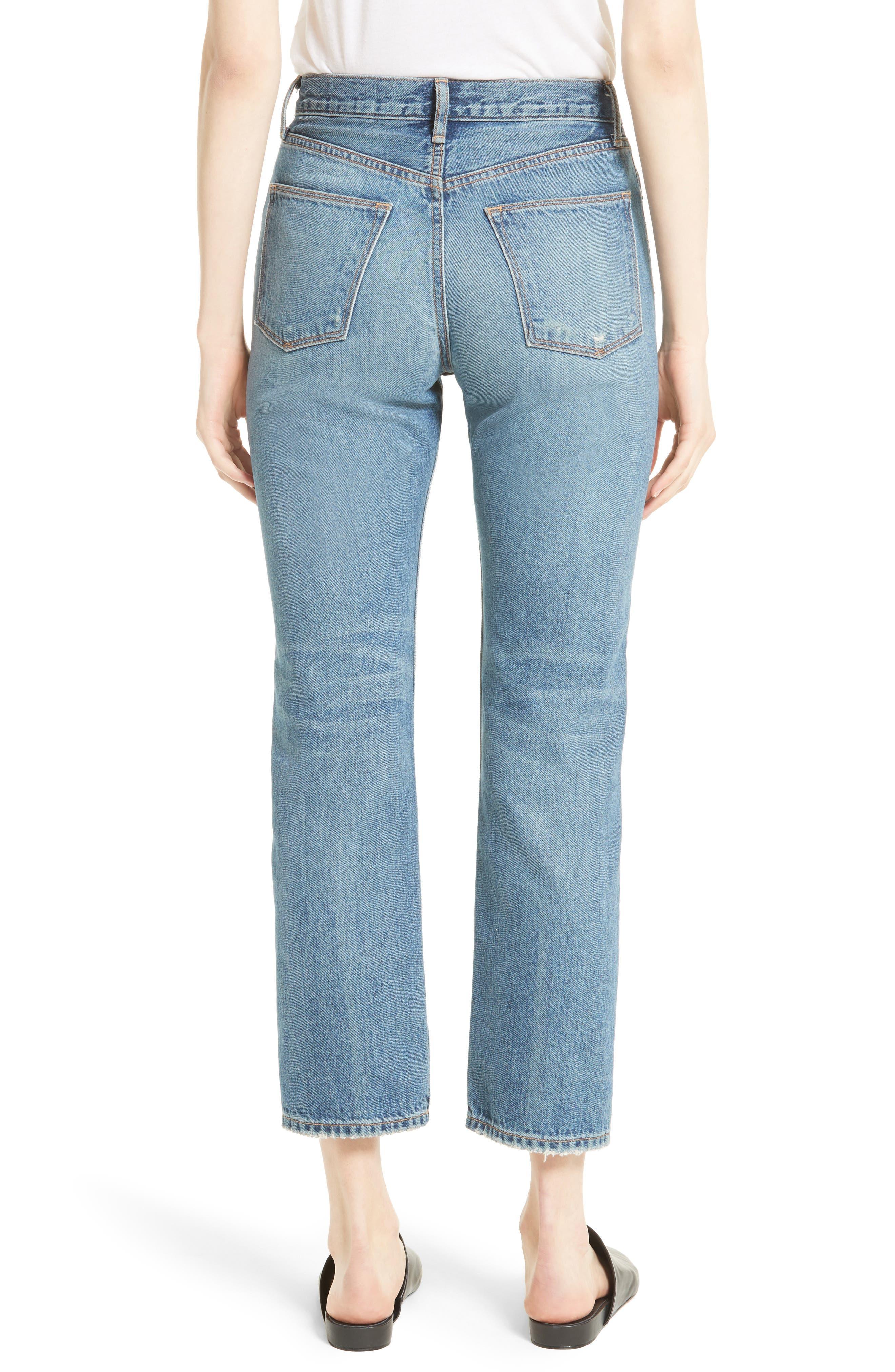 High Waist Vintage Straight Leg Jeans,                             Alternate thumbnail 2, color,                             420