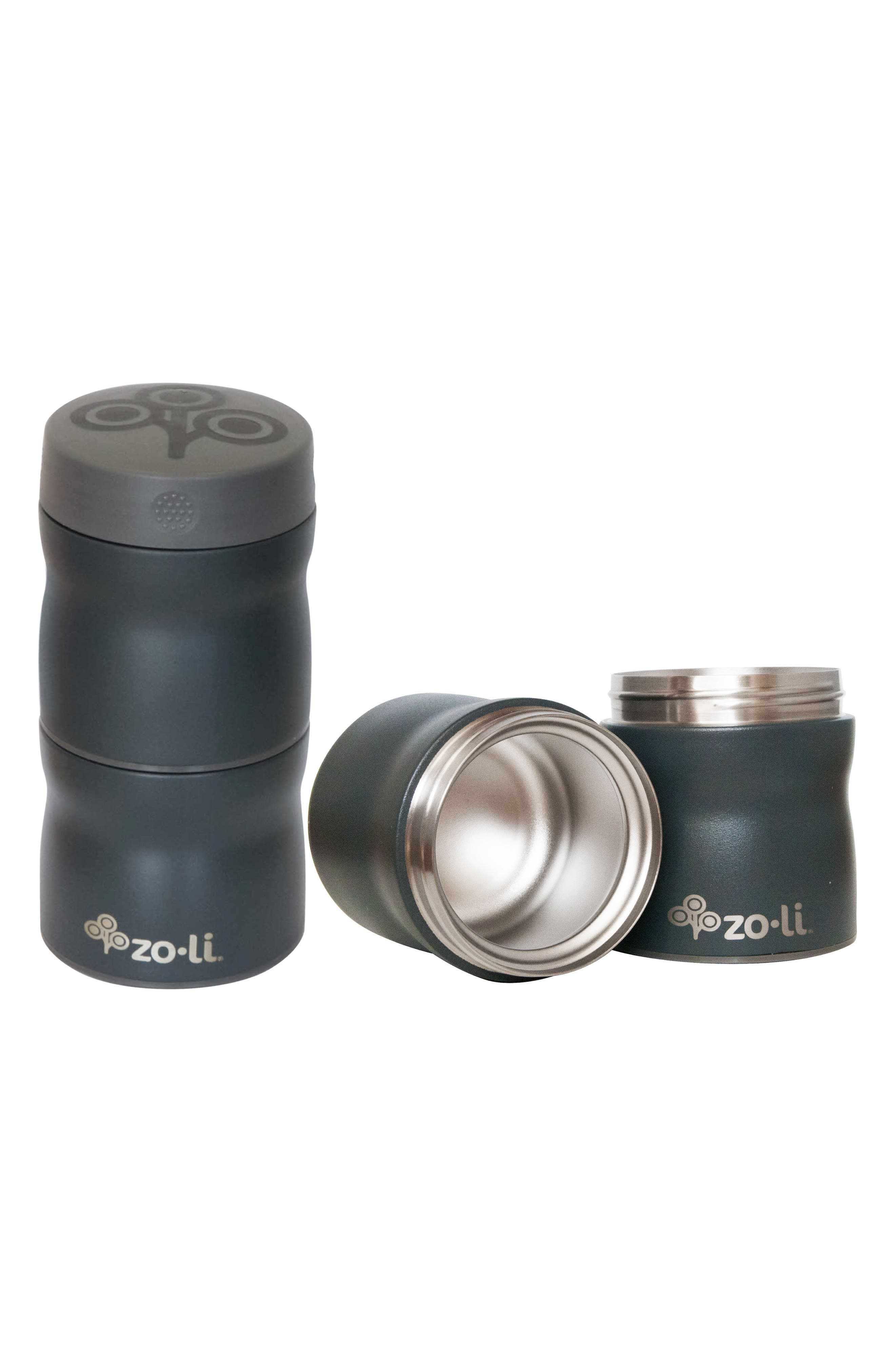 This & That Stackable Insulated Containers,                             Main thumbnail 1, color,                             GREY