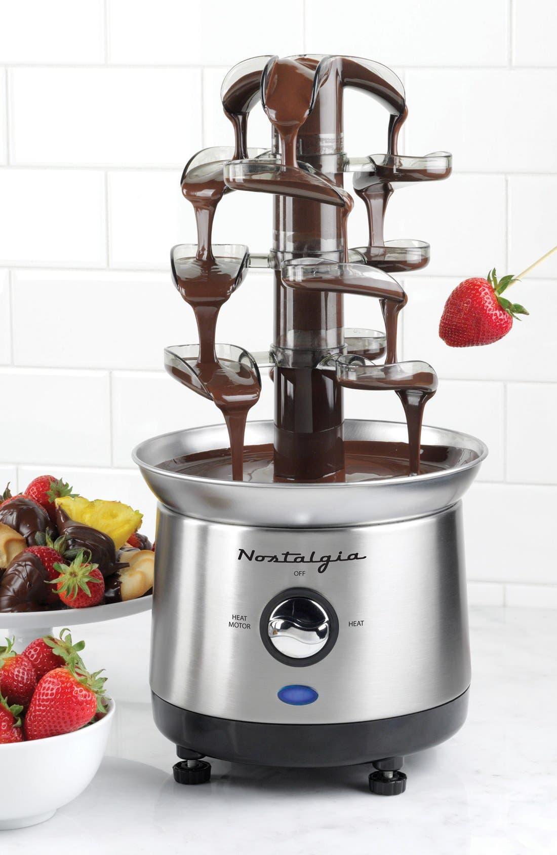 Nostalgia Electronics Stainless Steel Cascading Chocolate Fondue Fountain,                             Alternate thumbnail 2, color,                             040