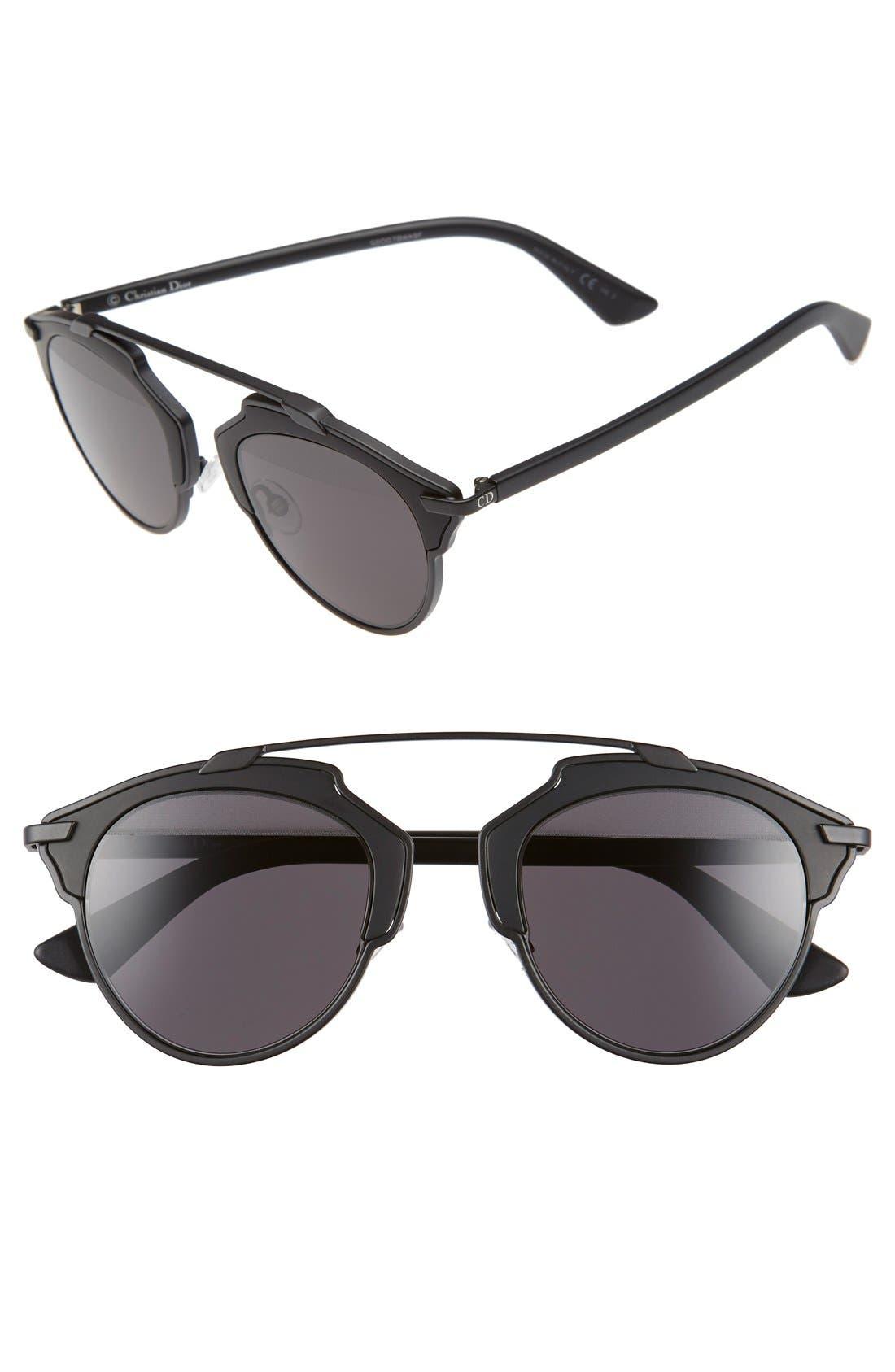 So Real 48mm Brow Bar Sunglasses,                             Main thumbnail 5, color,