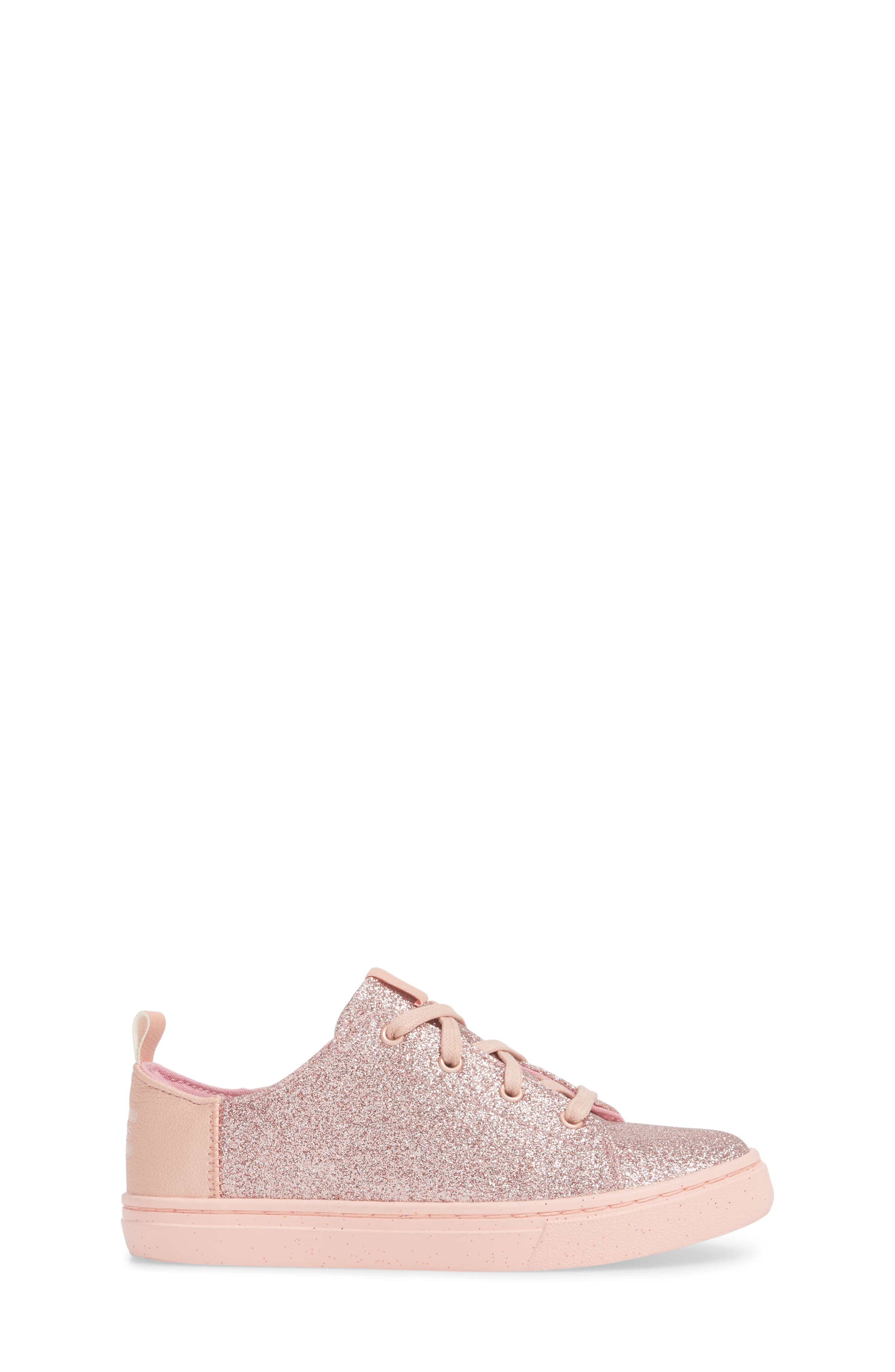 TOMS,                             Lenny Metallic Glitter Sneaker,                             Alternate thumbnail 3, color,                             650