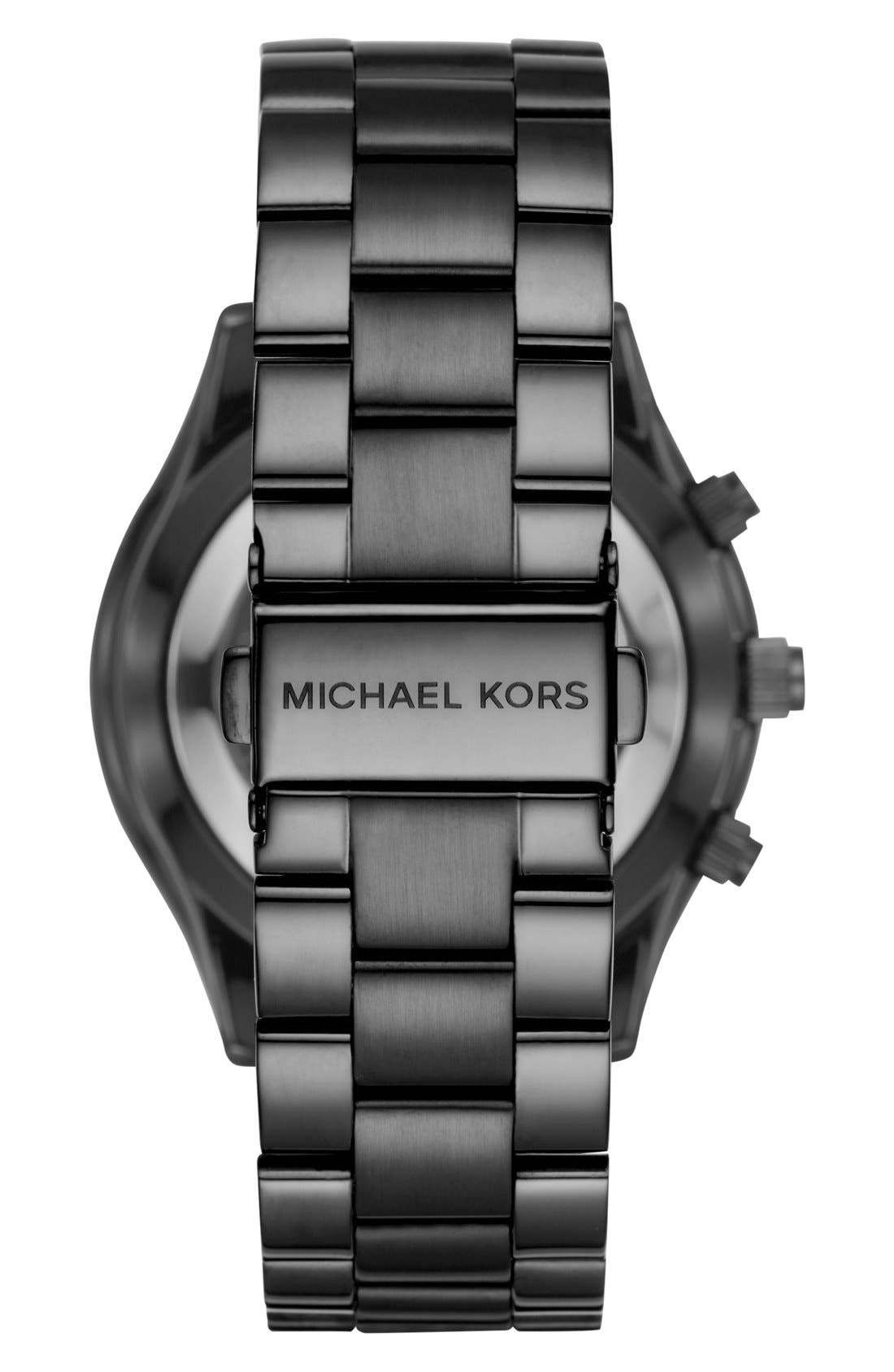 MICHAEL Michael Kors Slim Runway Smart Watch, 42mm,                             Alternate thumbnail 4, color,                             BLACK