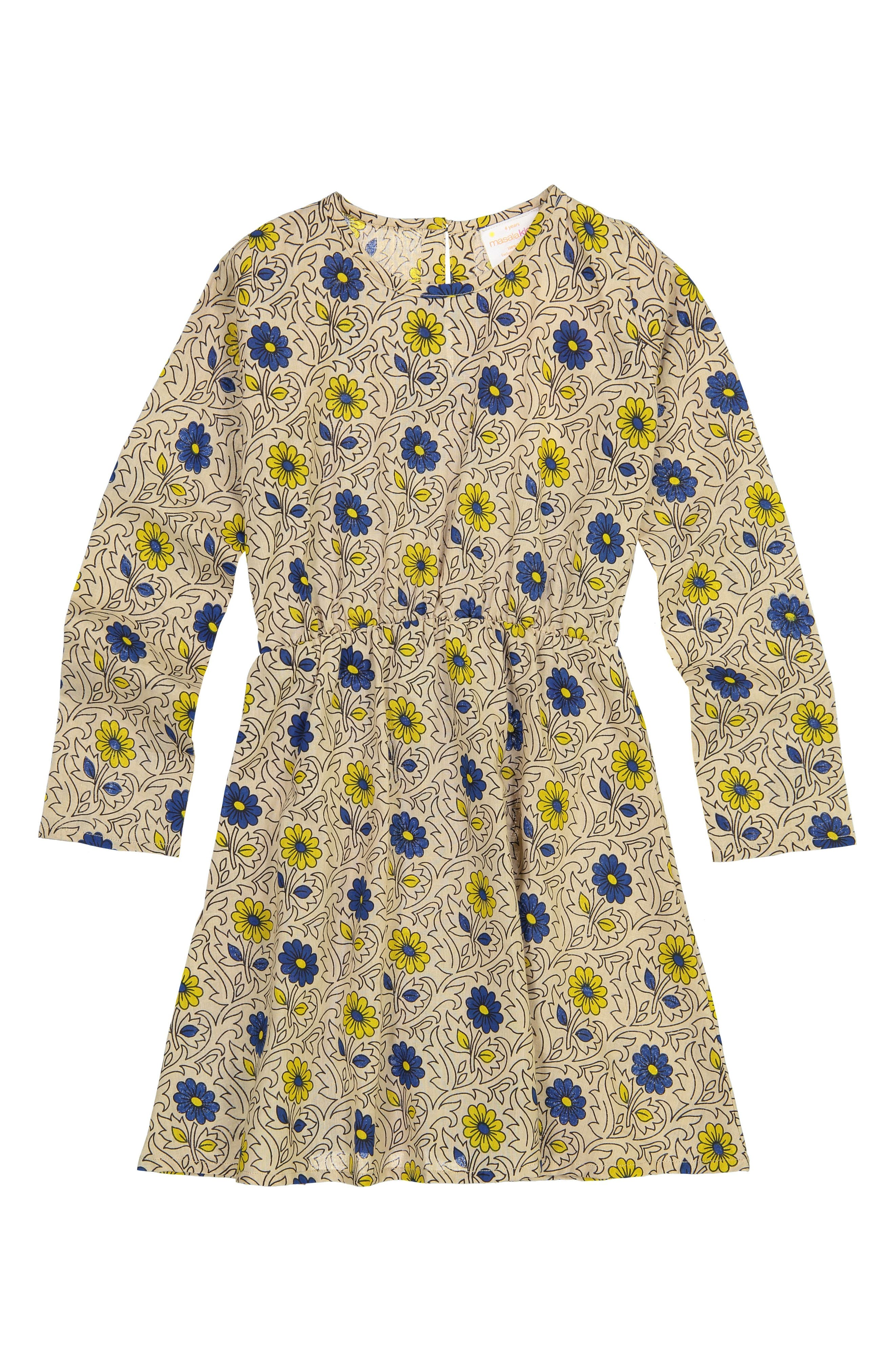Misha Garden Sand Dress,                             Alternate thumbnail 2, color,                             SAND