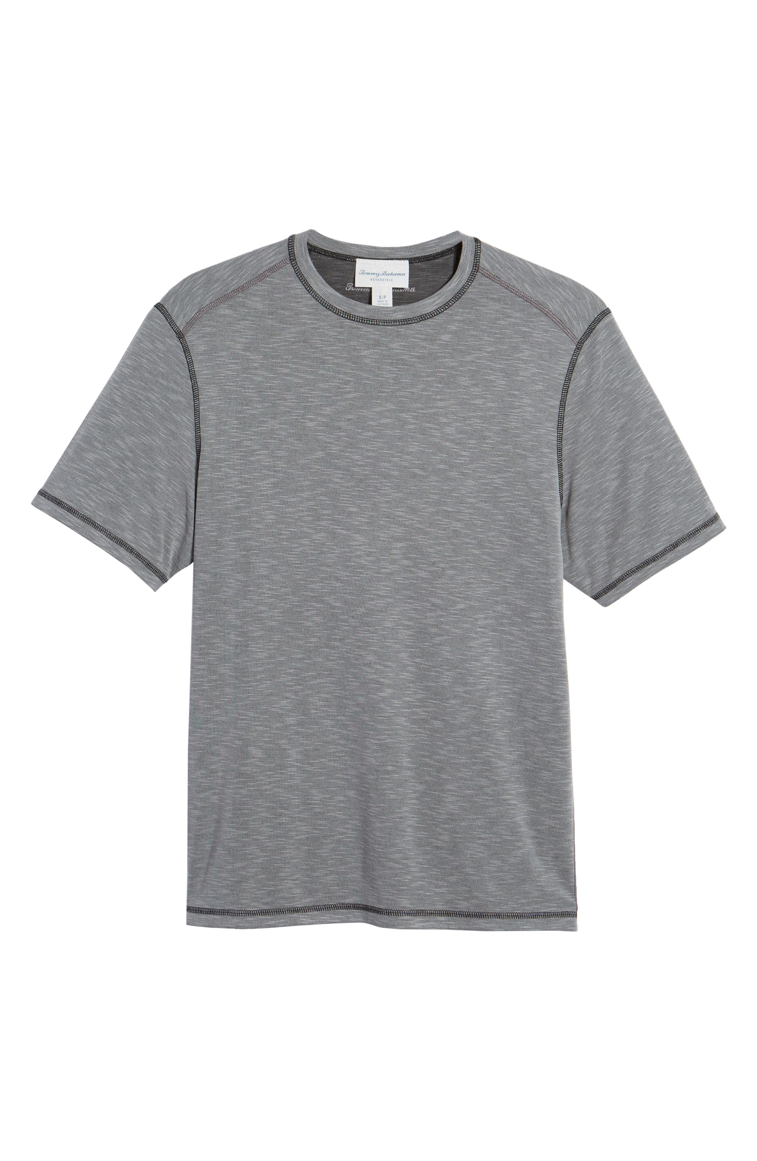 Flip Tide T-Shirt,                             Alternate thumbnail 6, color,                             COAL