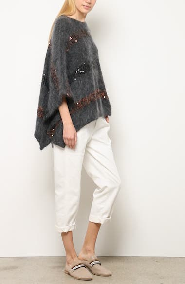 Sequin Stripe Poncho Sweater, video thumbnail