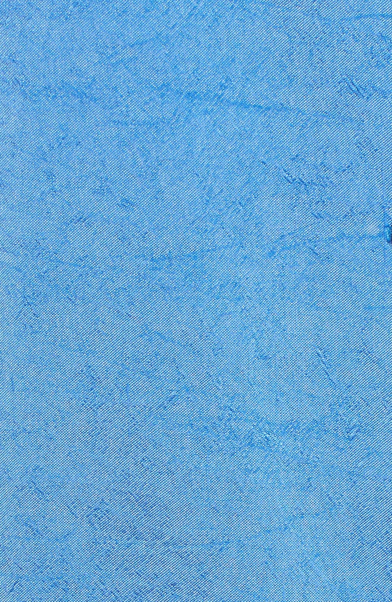 Crinkled Satin Silk Shirt,                             Alternate thumbnail 6, color,                             405