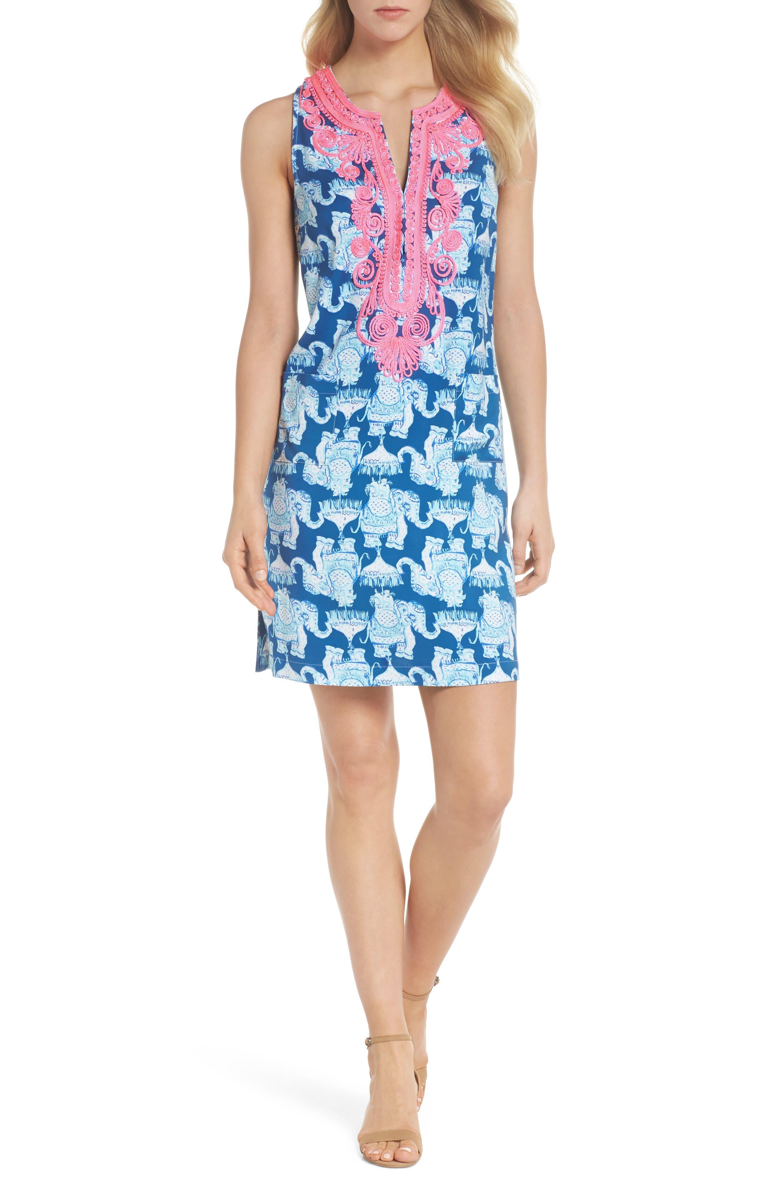 Carlotta Shift Dress,                         Main,                         color, 400