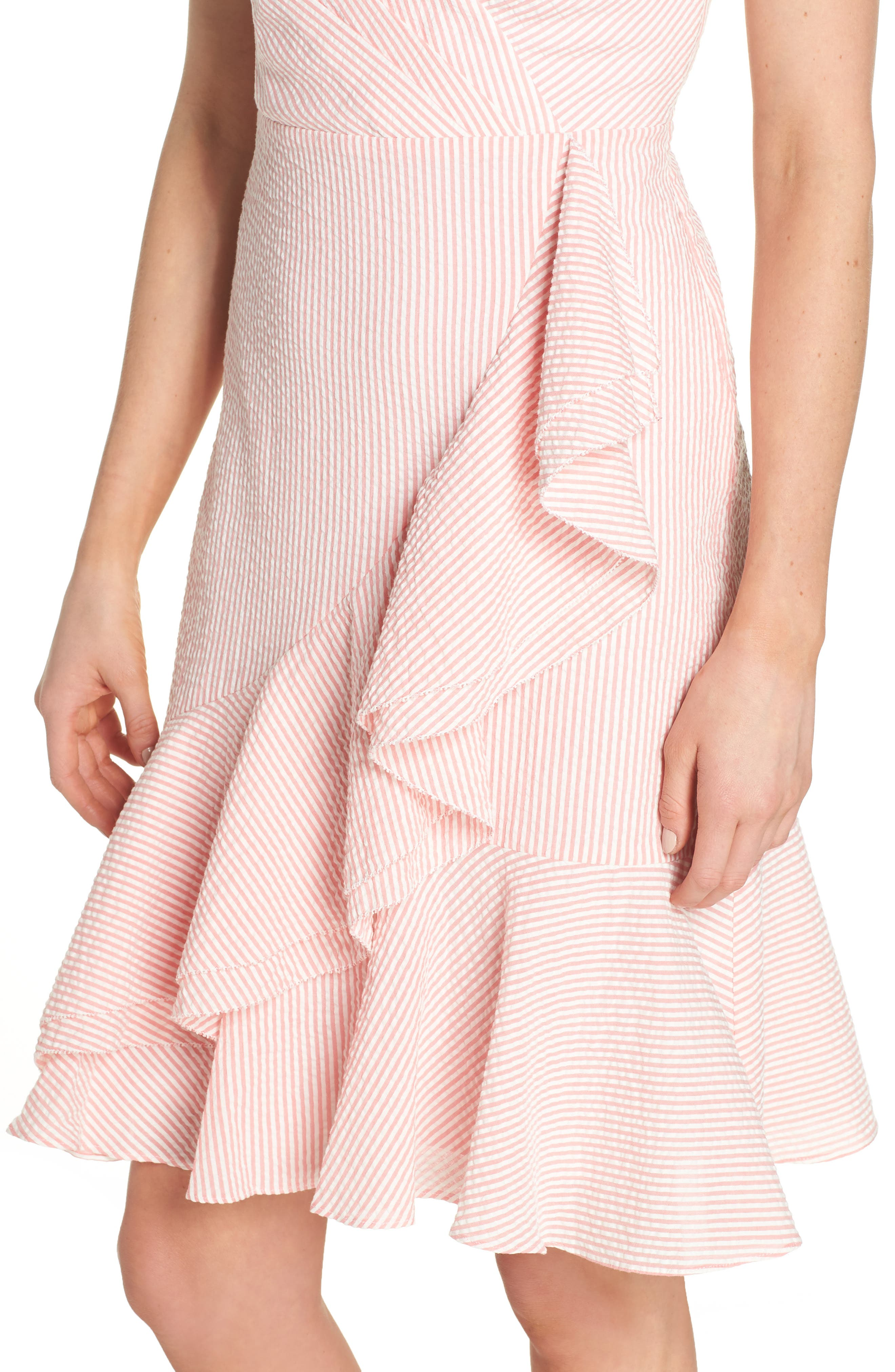 Spaghetti Strap Ruffle Dress,                             Alternate thumbnail 9, color,