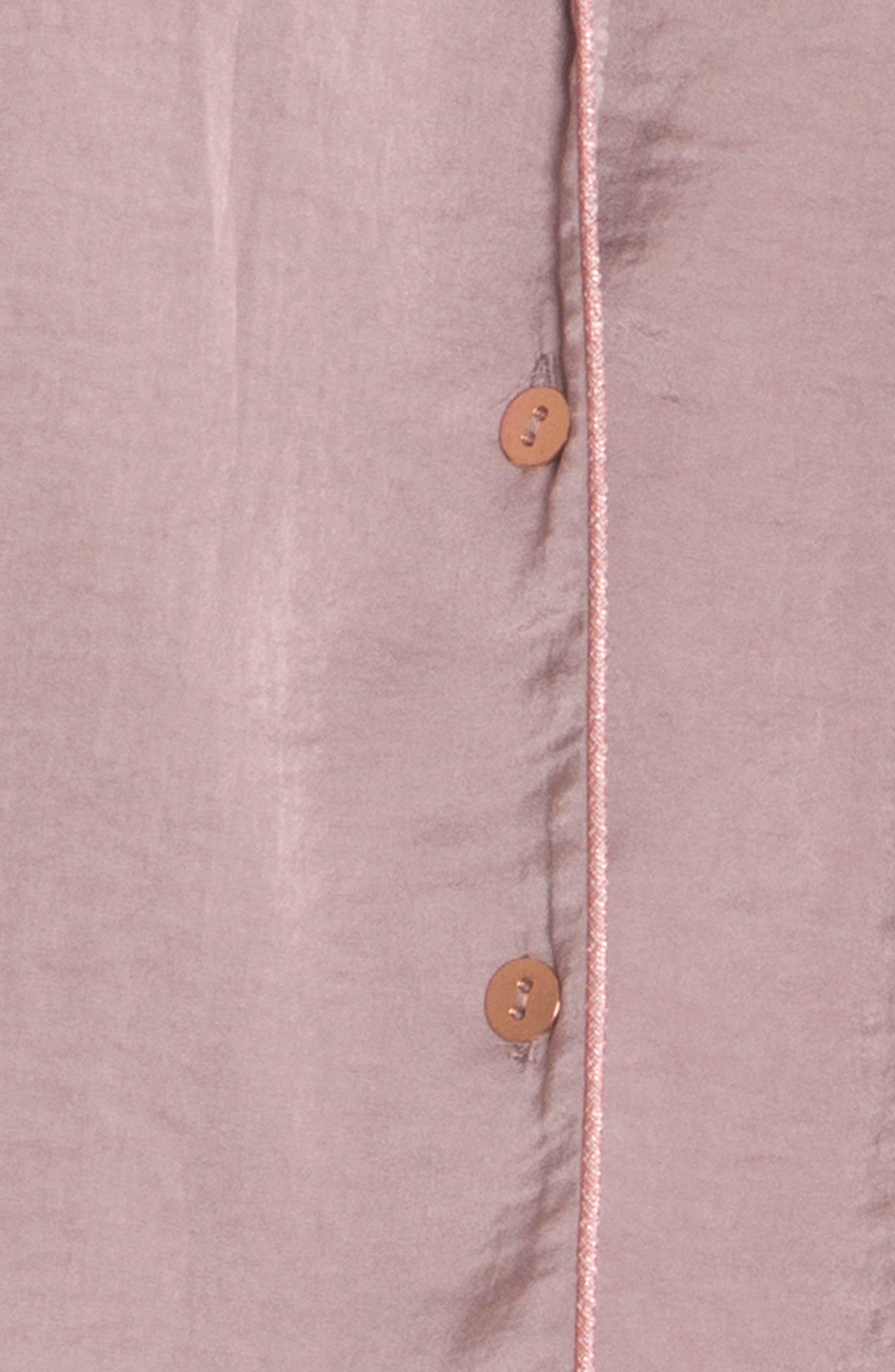 Crop Pajama Top,                             Alternate thumbnail 4, color,                             500