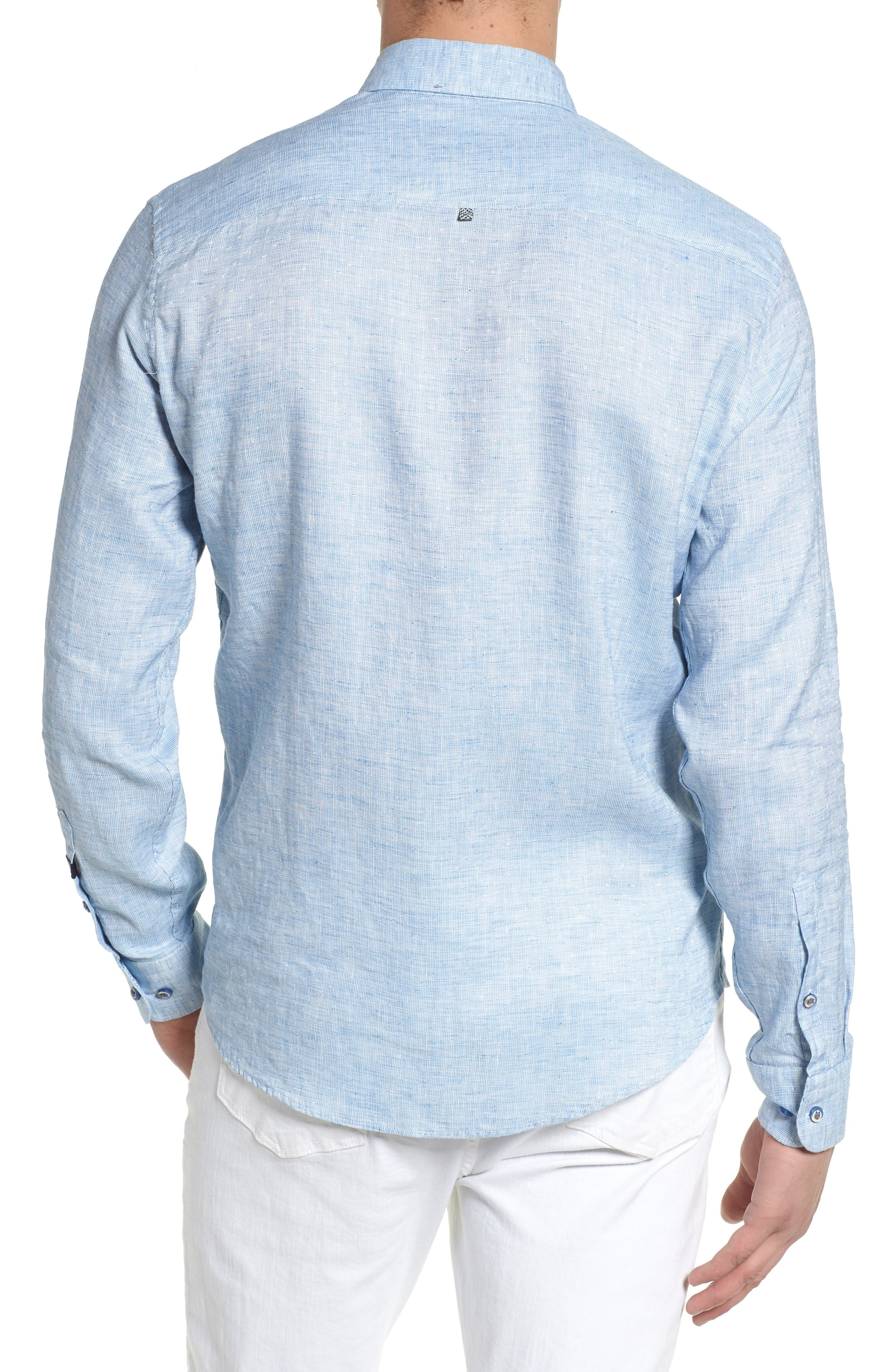 Linen Blend Sport Shirt,                             Alternate thumbnail 5, color,
