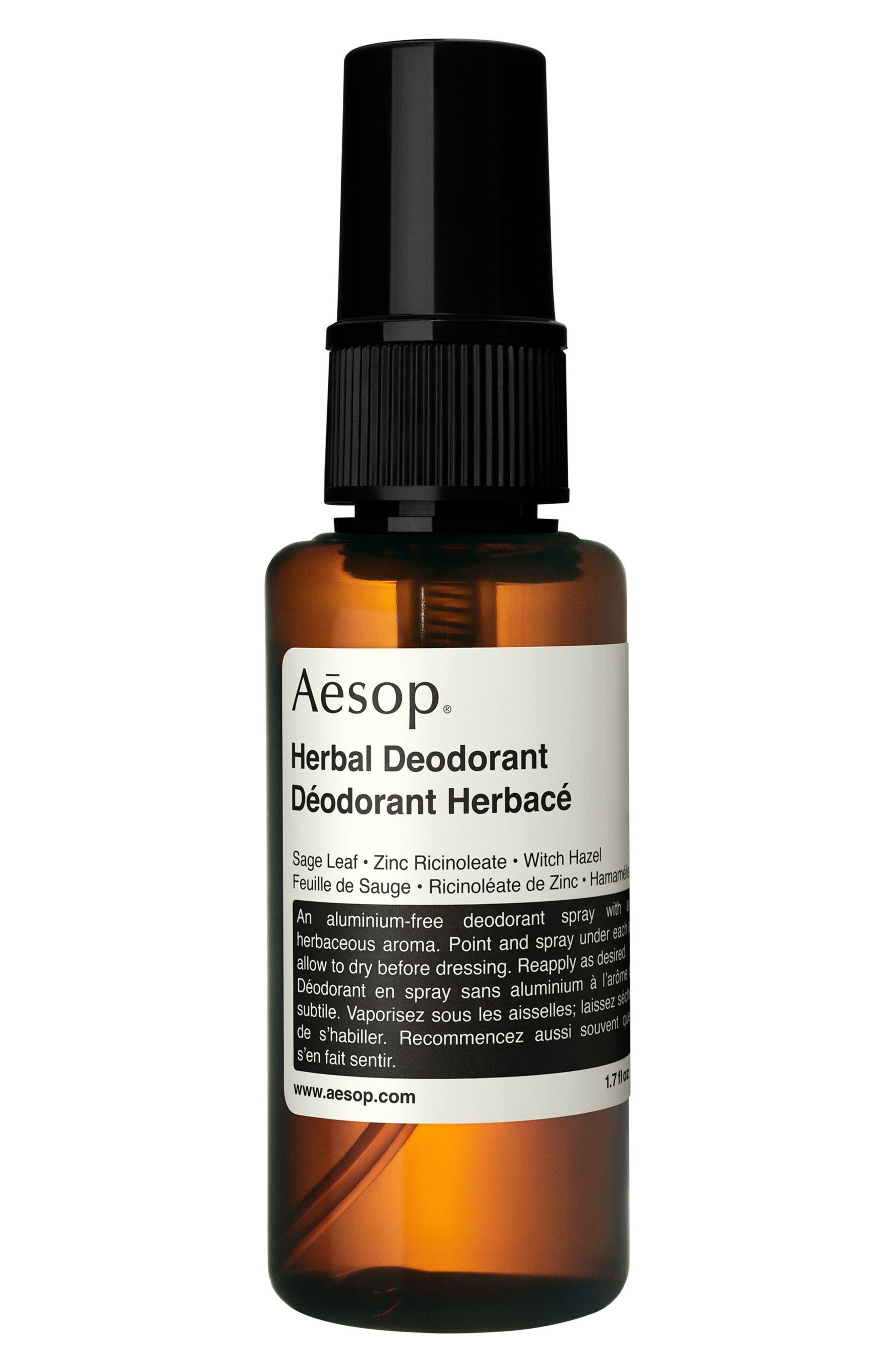 Herbal Spray Deodorant,                             Main thumbnail 1, color,                             NO COLOR