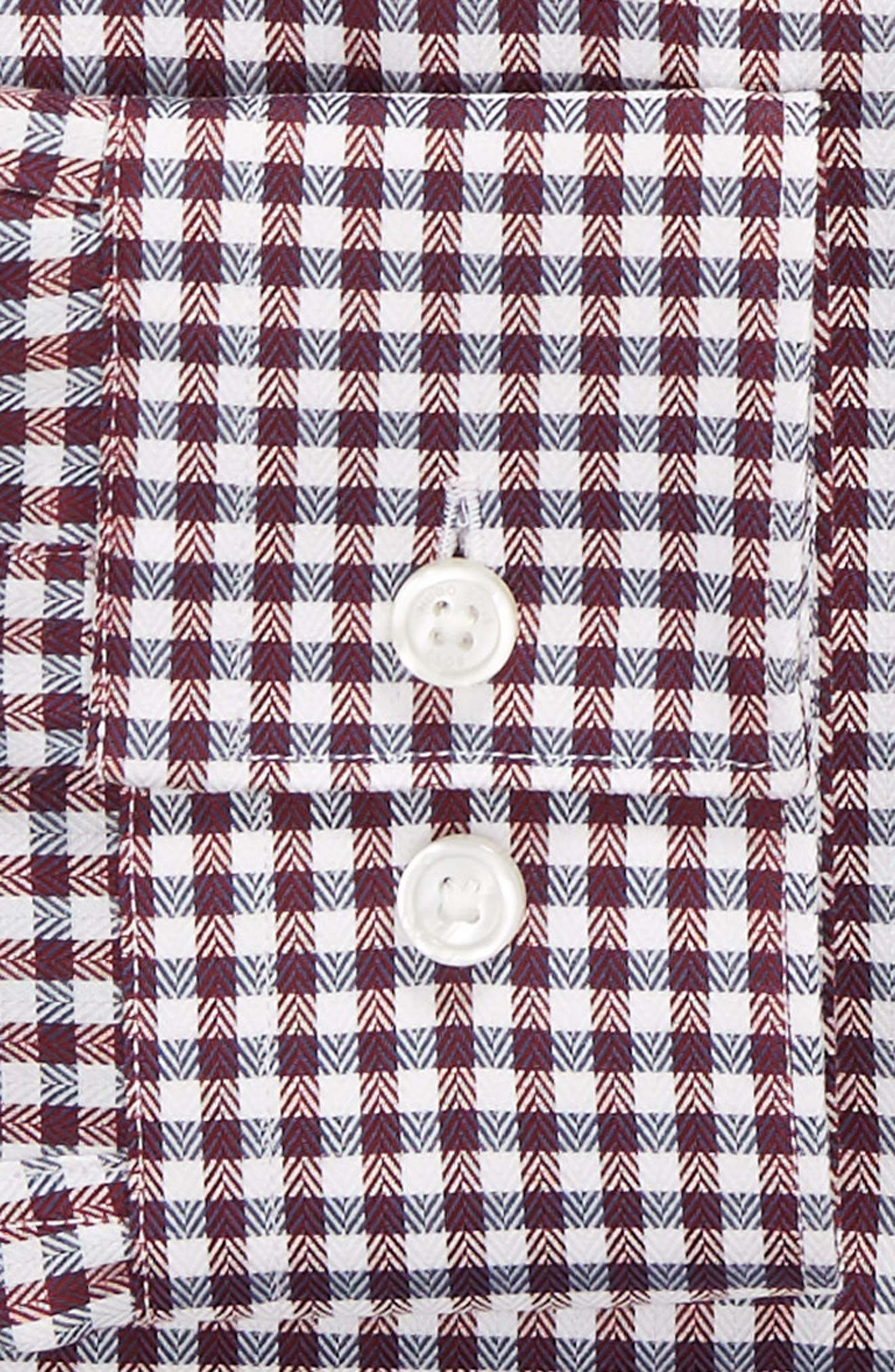 x Nordstrom Isaac Slim Fit Check Dress Shirt,                             Alternate thumbnail 6, color,                             RED