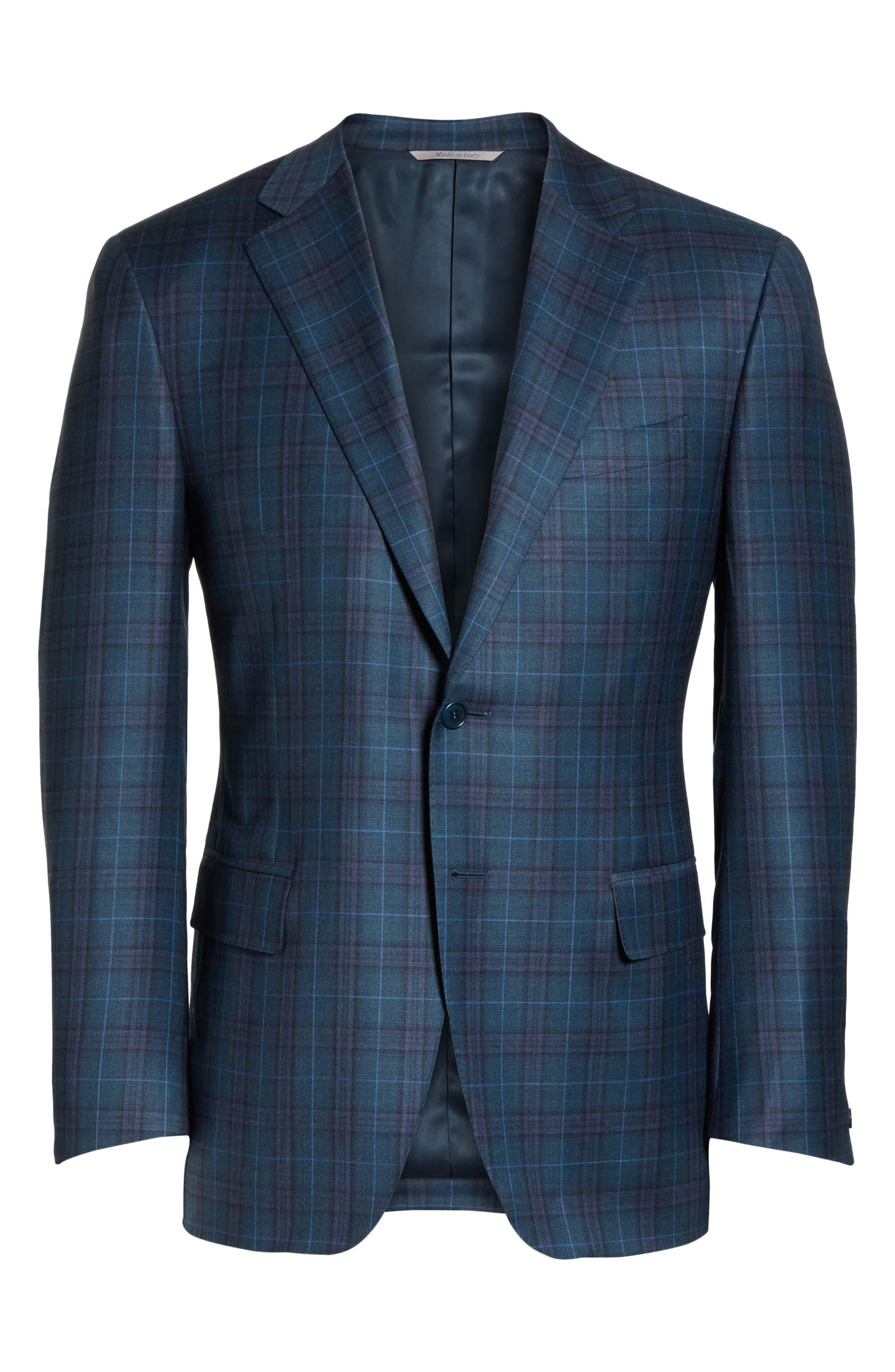 Classic Fit Plaid Wool Sport Coat,                             Alternate thumbnail 5, color,                             301