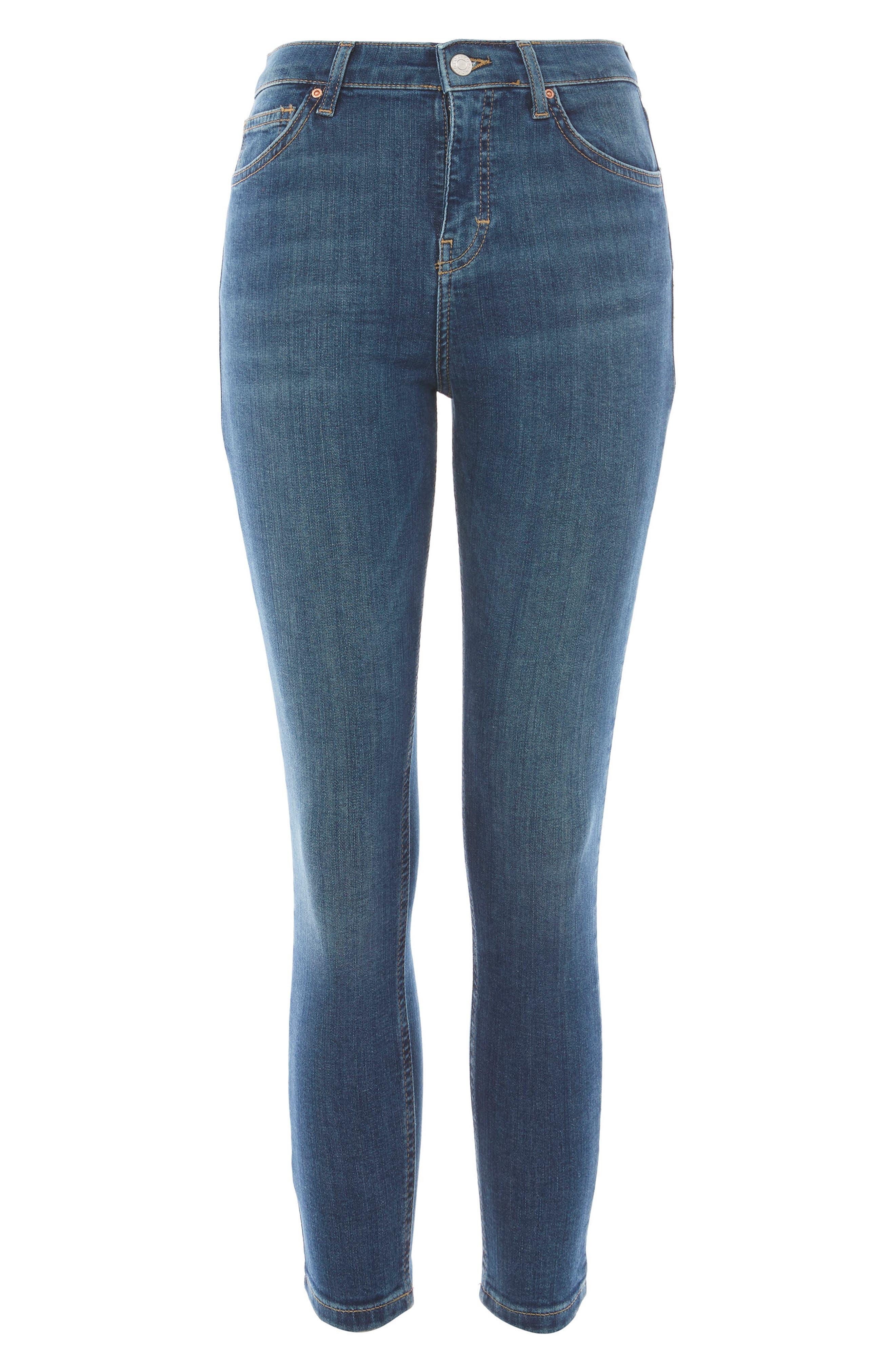 Jamie Petite Mid Denim Jeans,                             Alternate thumbnail 4, color,                             400