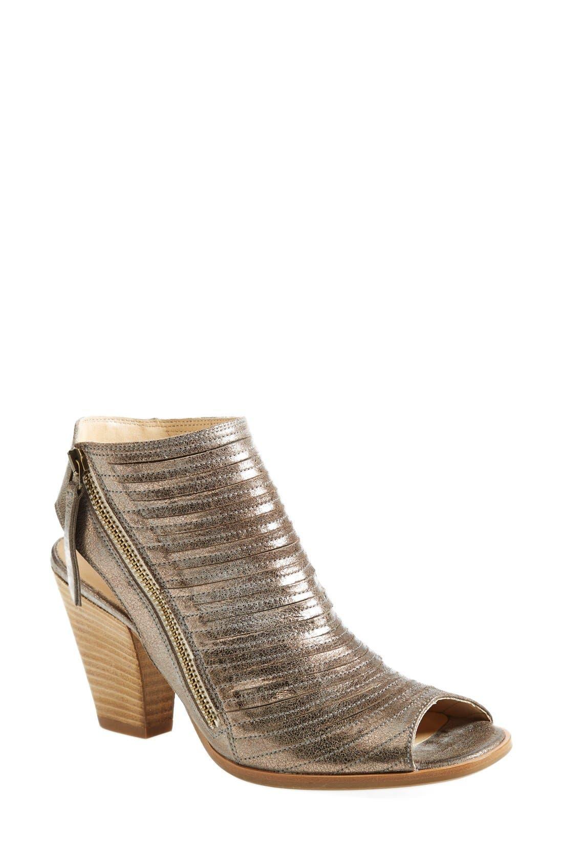 'Cayanne' Leather Peep Toe Sandal,                             Main thumbnail 8, color,