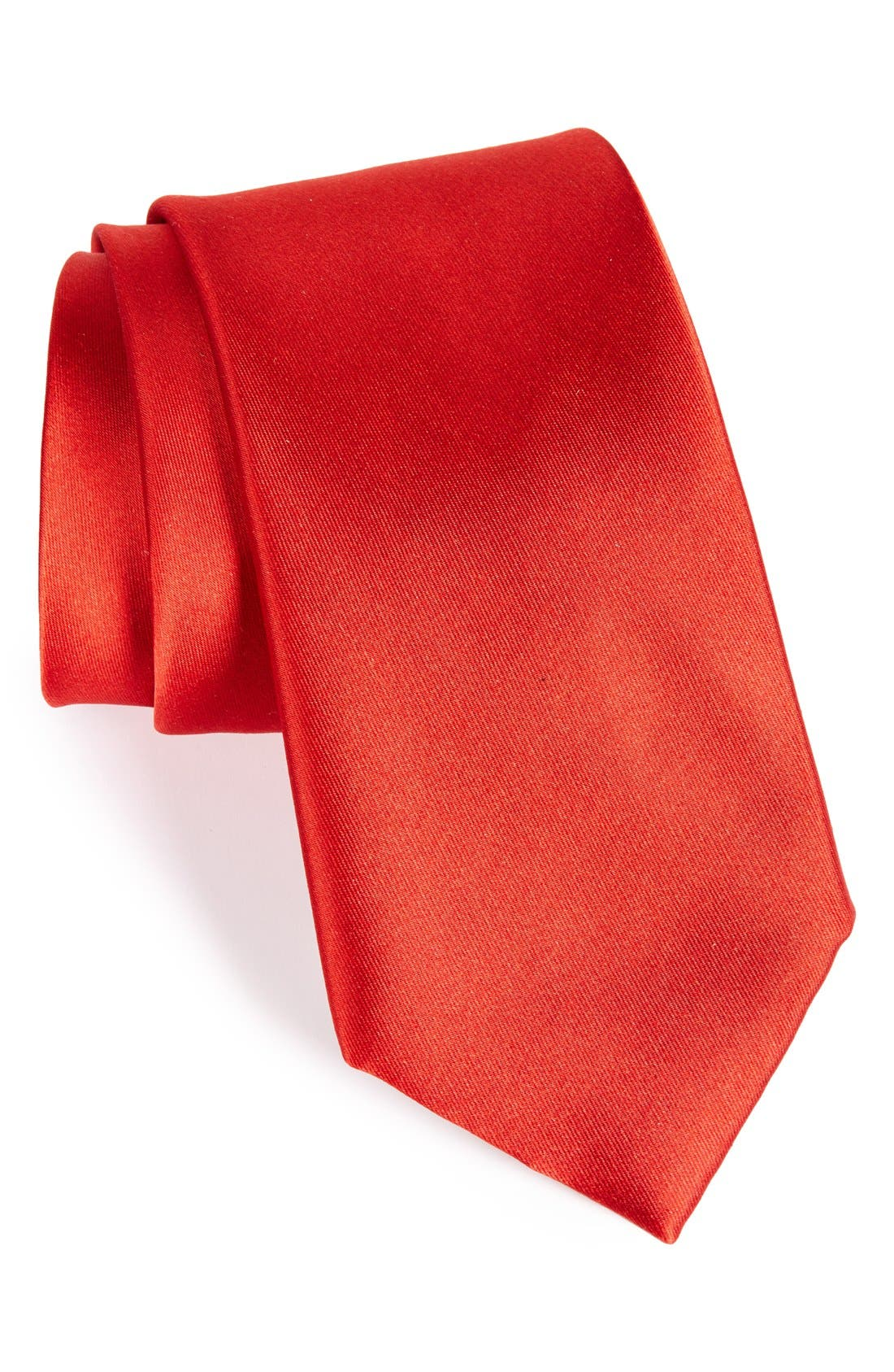 Solid Satin Silk Tie,                             Main thumbnail 10, color,
