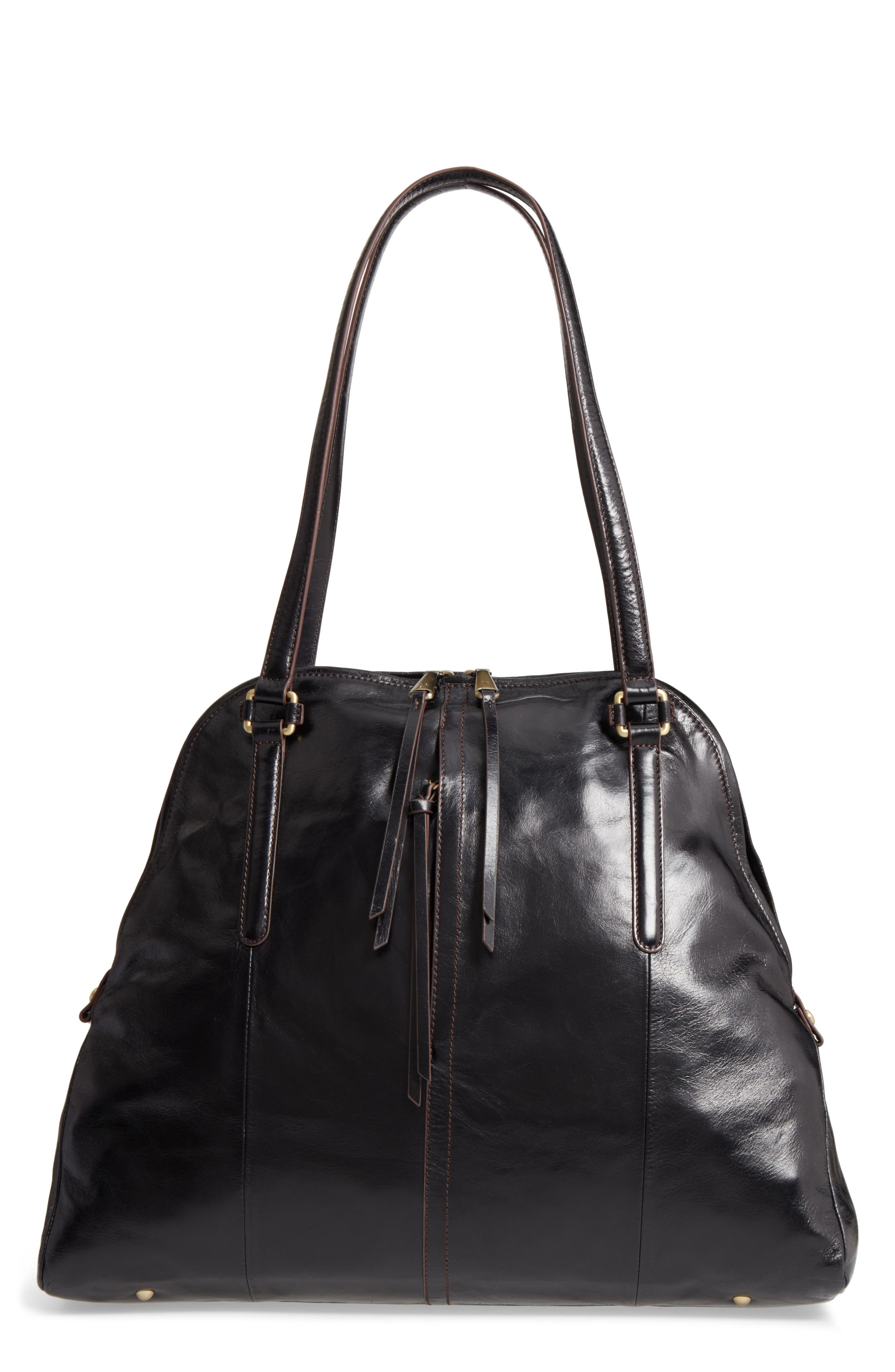 Delaney Calfskin Leather Tote,                             Main thumbnail 1, color,                             001
