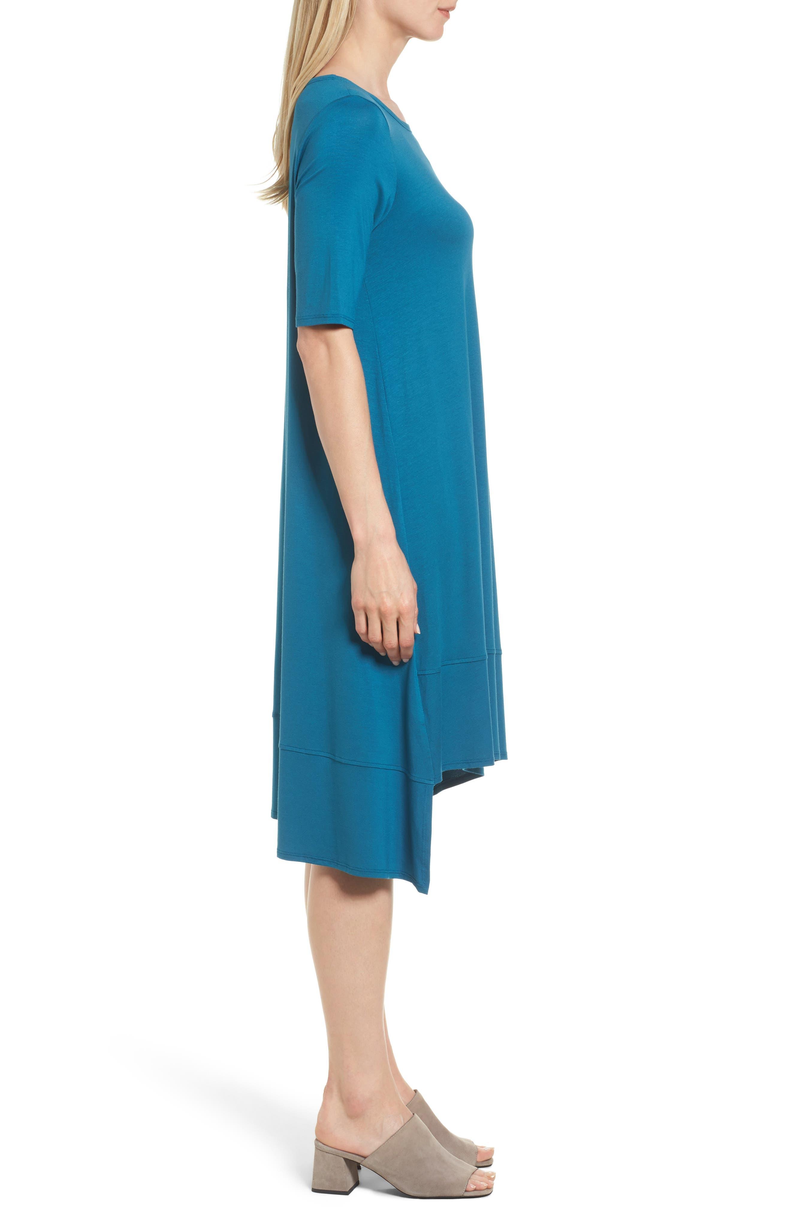 Jersey Asymmetrical A-Line Dress,                             Alternate thumbnail 13, color,