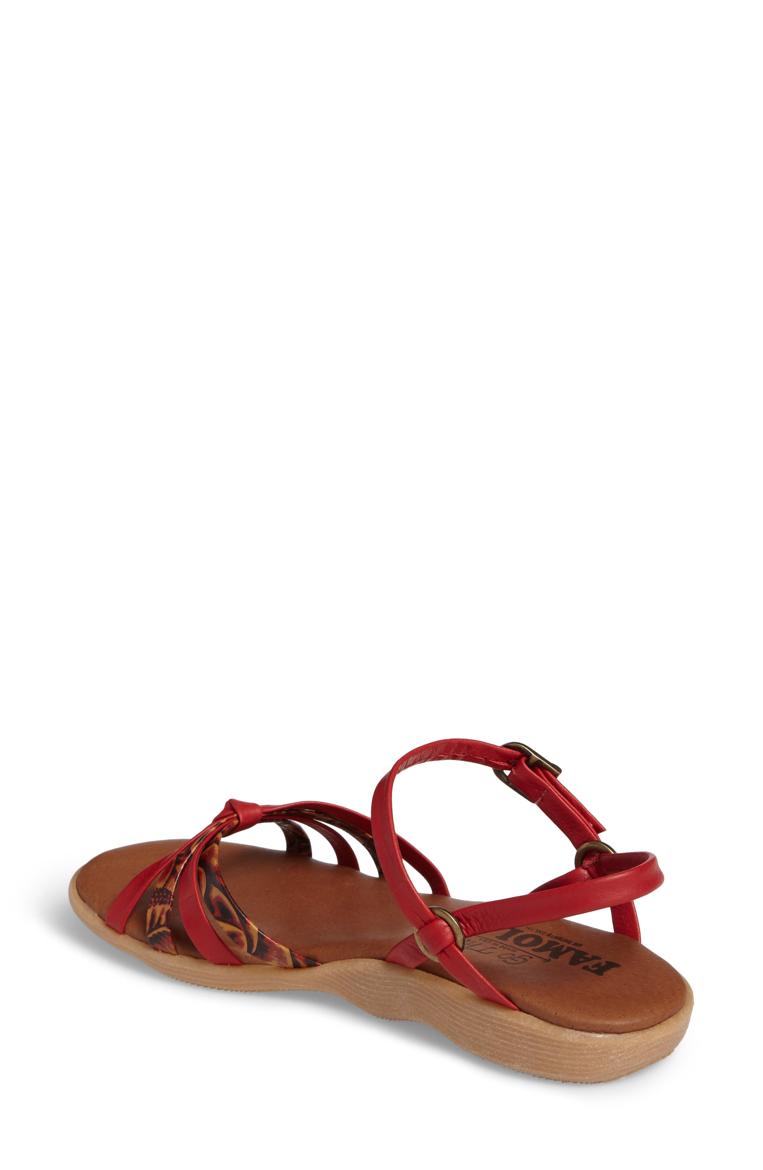 Strap Music Knotted Sandal,                             Alternate thumbnail 2, color,                             MULTI CORAL LEATHER