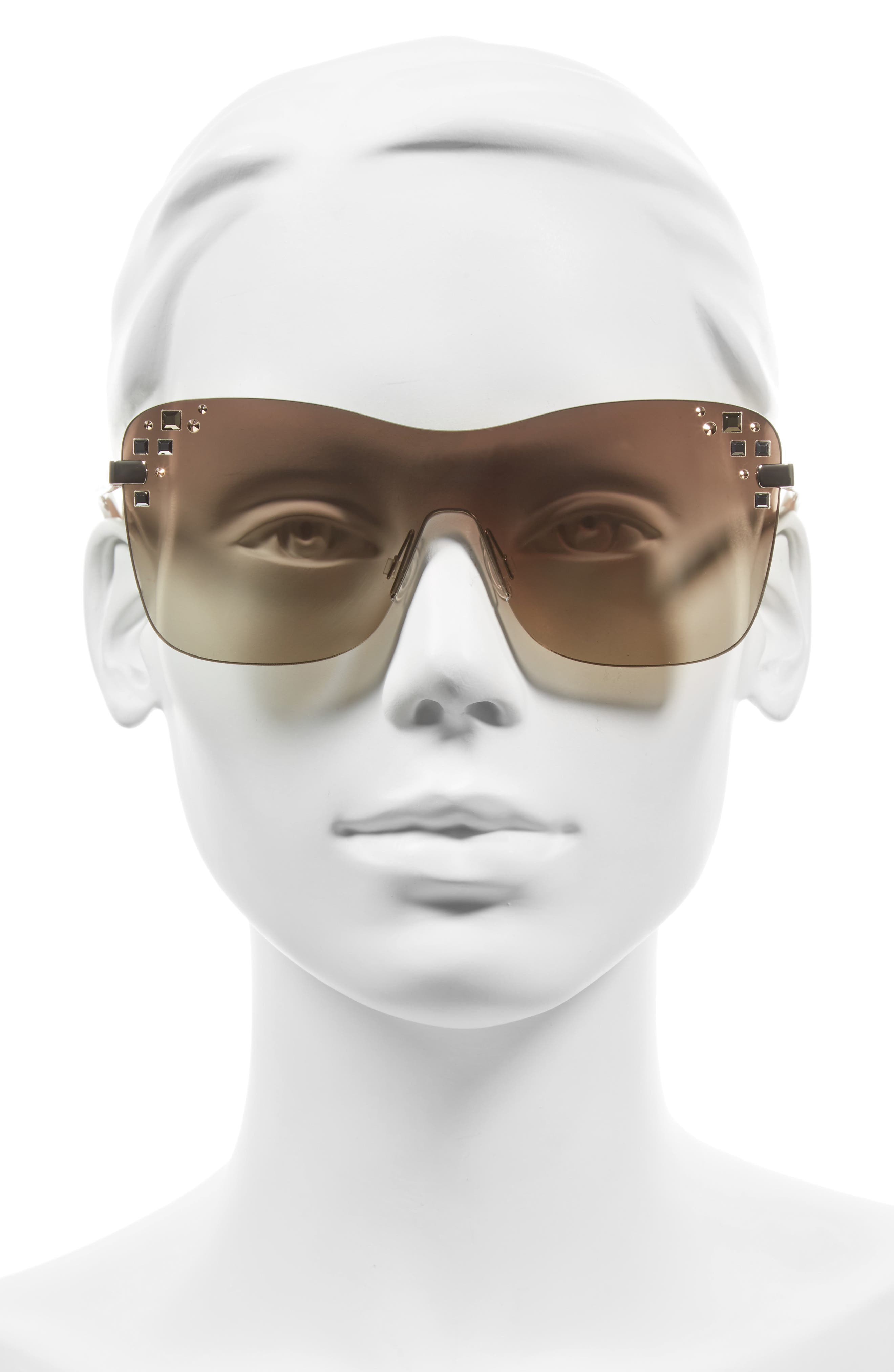 Masks 63mm Rimless Shield Sunglasses,                             Alternate thumbnail 4, color,