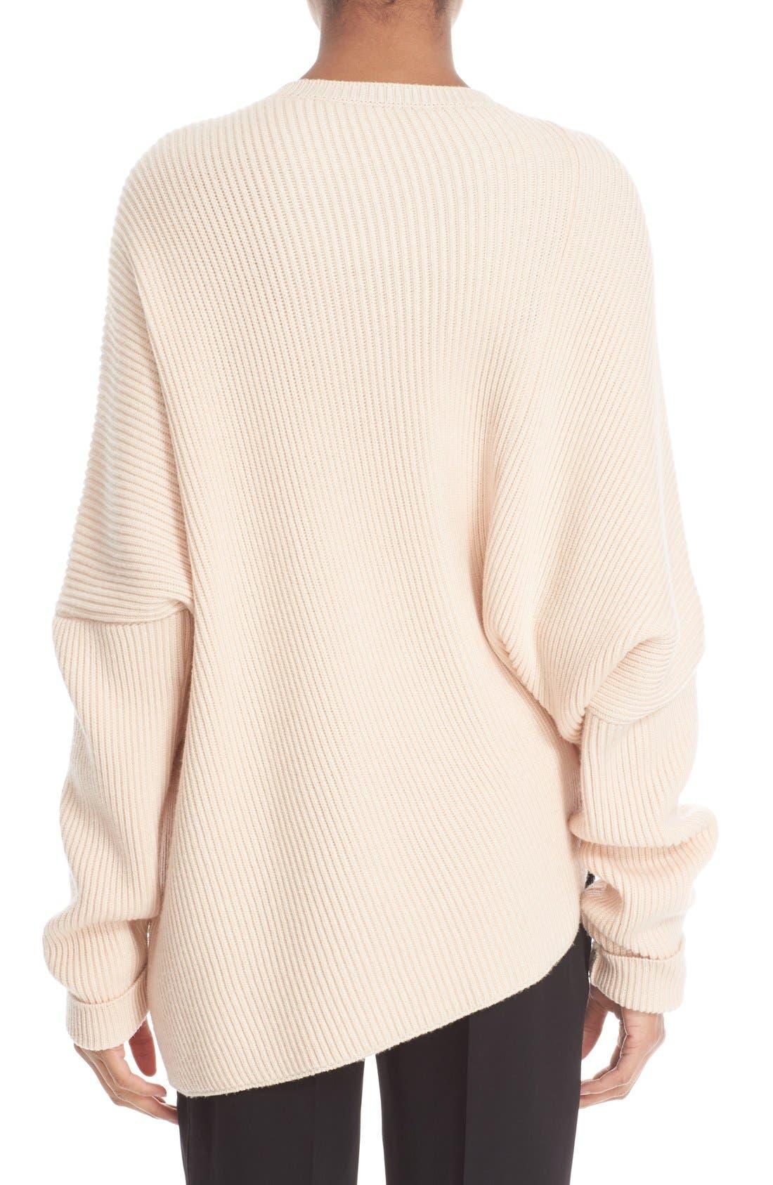 Asymmetrical Wool Sweater,                             Alternate thumbnail 2, color,                             101