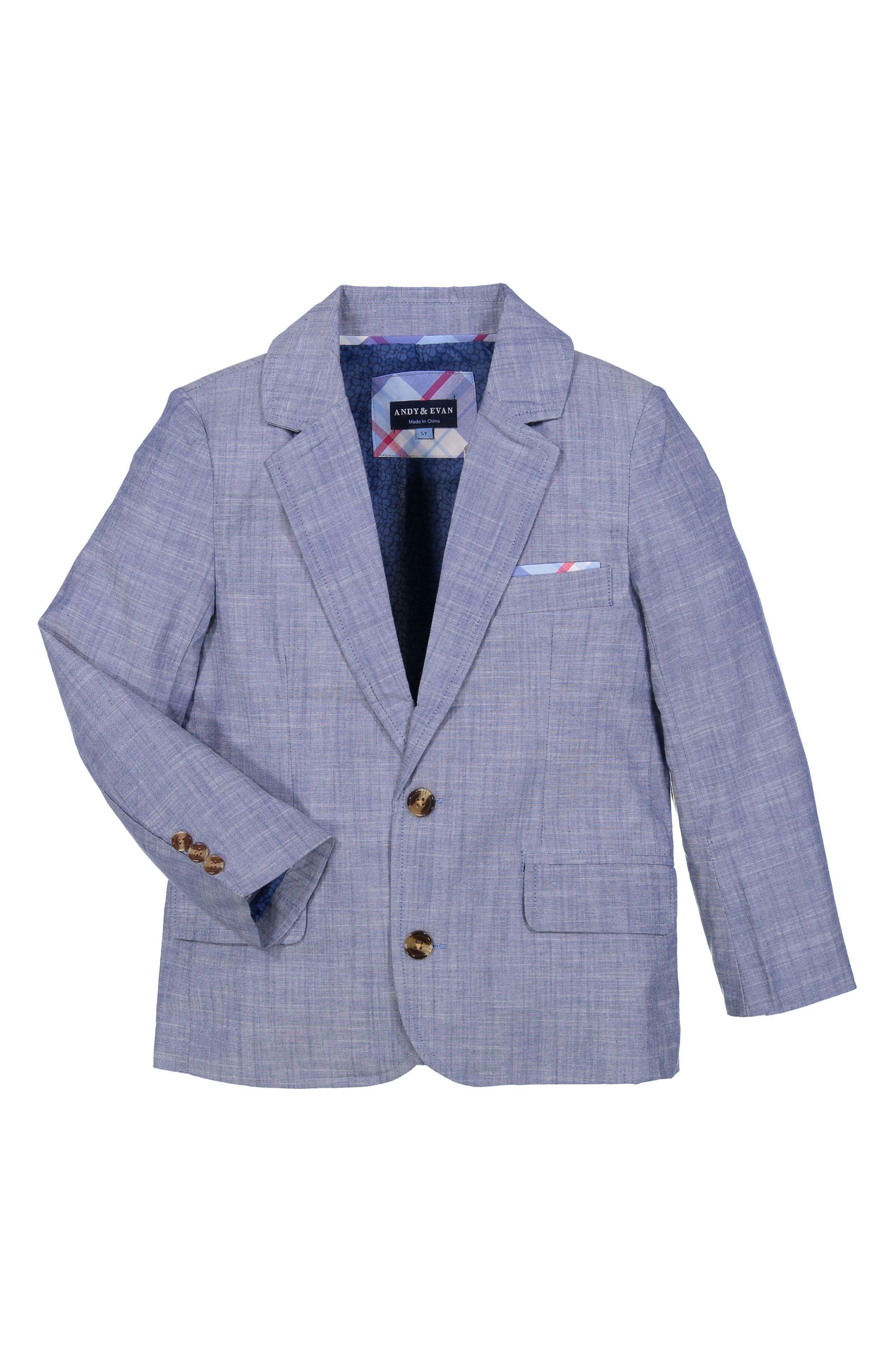 Chambray Suit Set,                             Alternate thumbnail 2, color,                             BLUE