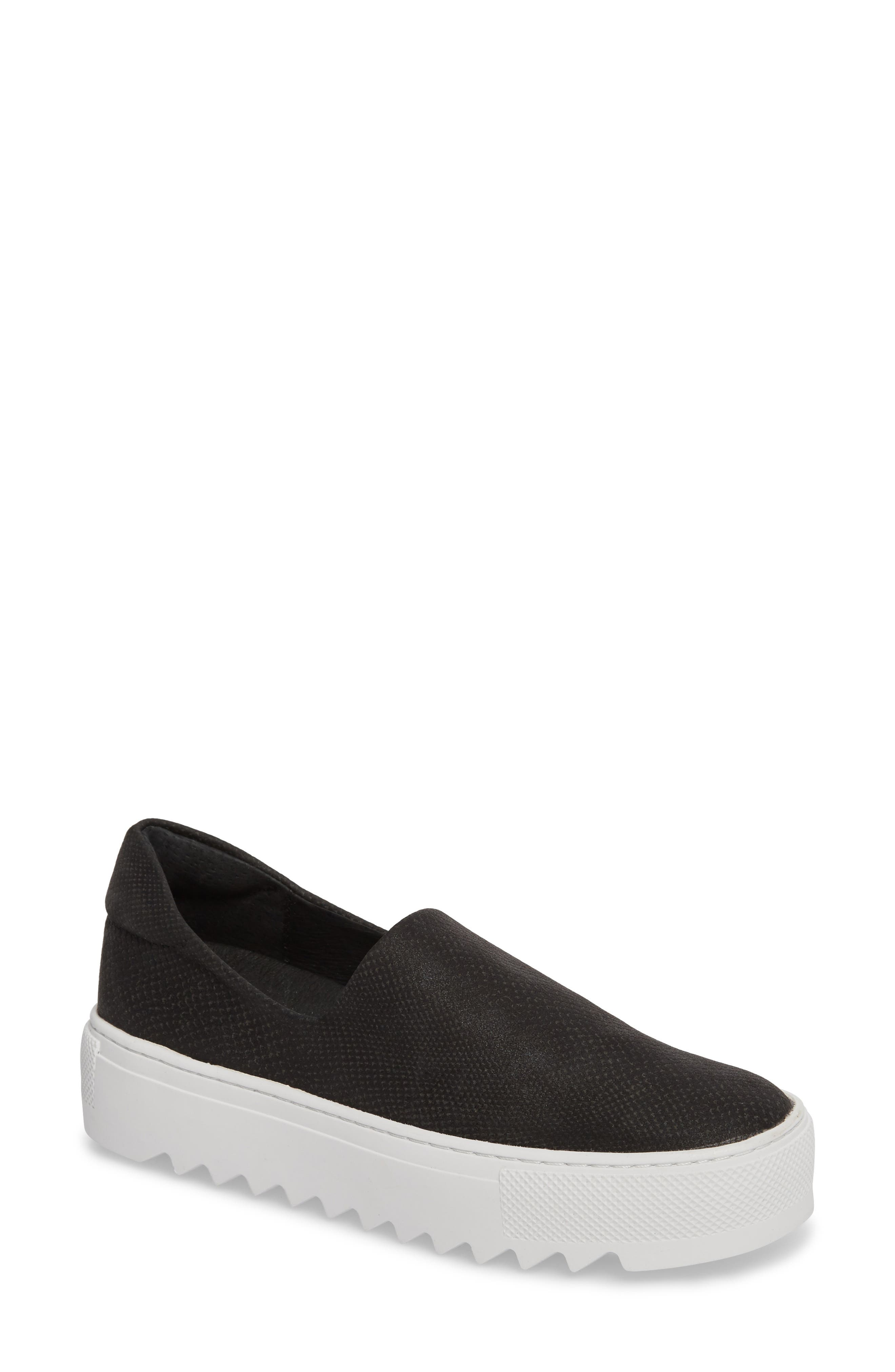Sage Platform Slip-On Sneaker,                             Main thumbnail 1, color,                             BLACK MIX FABRIC