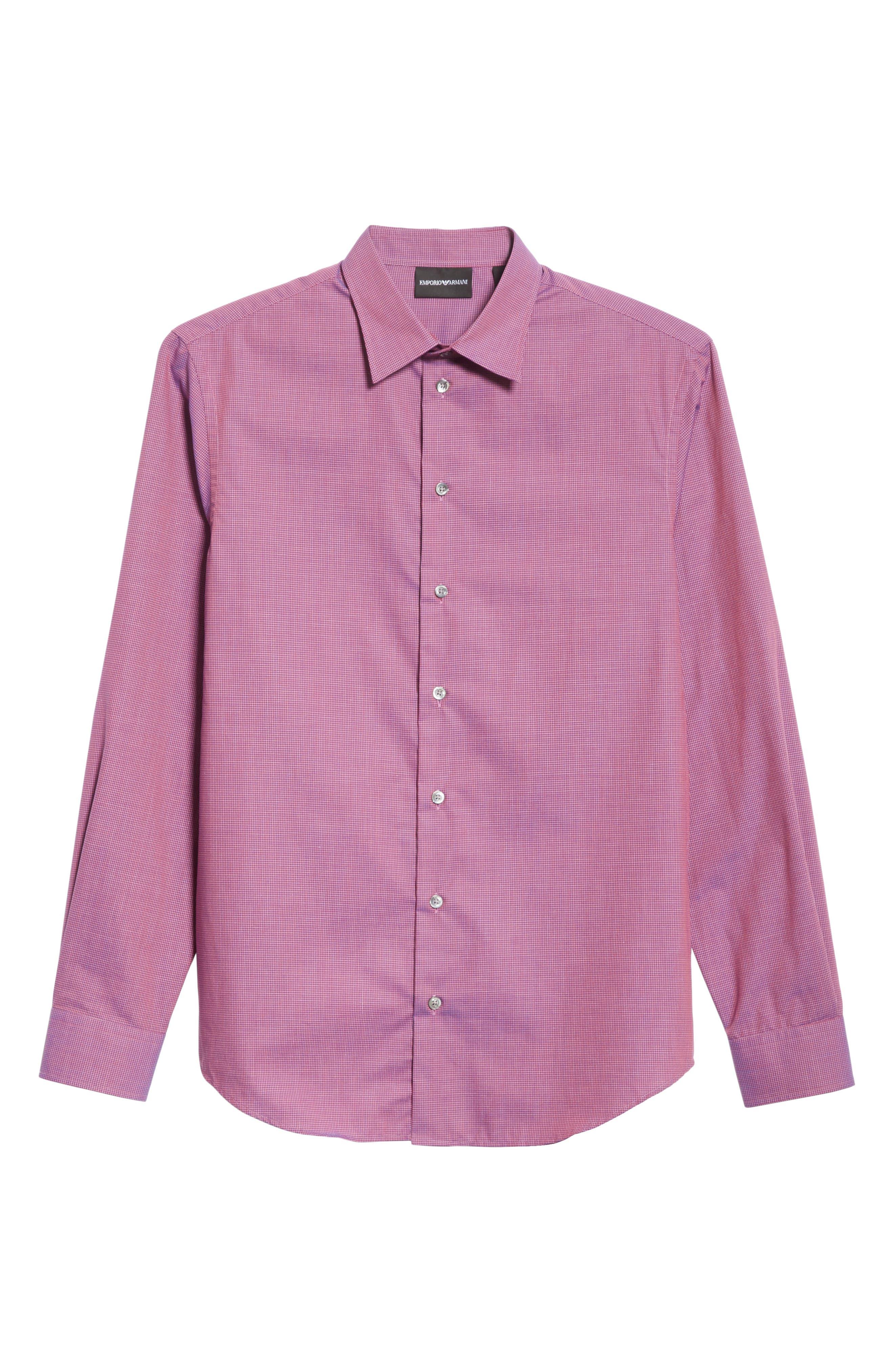 Microcheck Classic Fit Sport Shirt,                             Alternate thumbnail 6, color,                             600