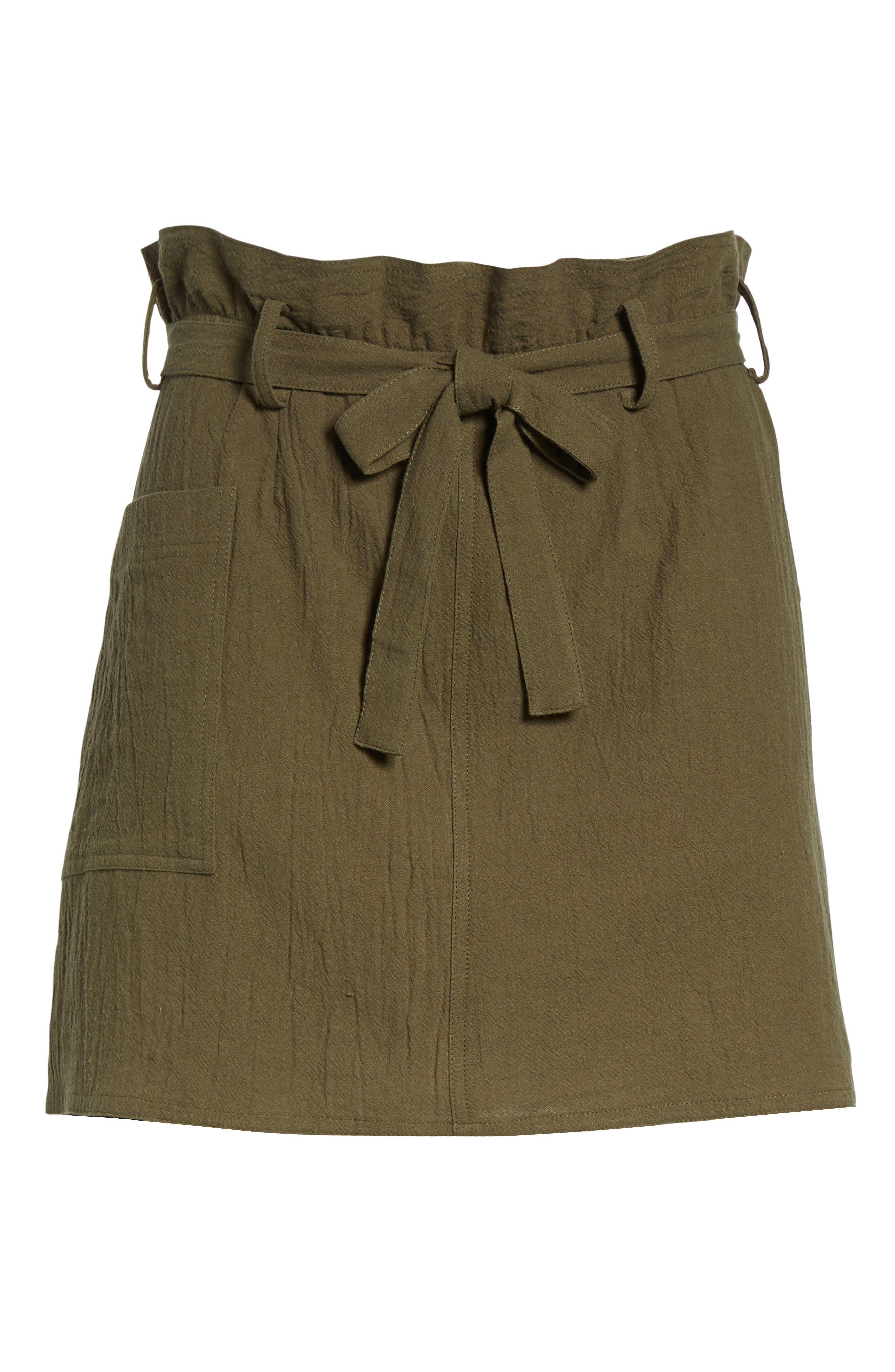 Paperbag Miniskirt,                             Alternate thumbnail 6, color,                             300