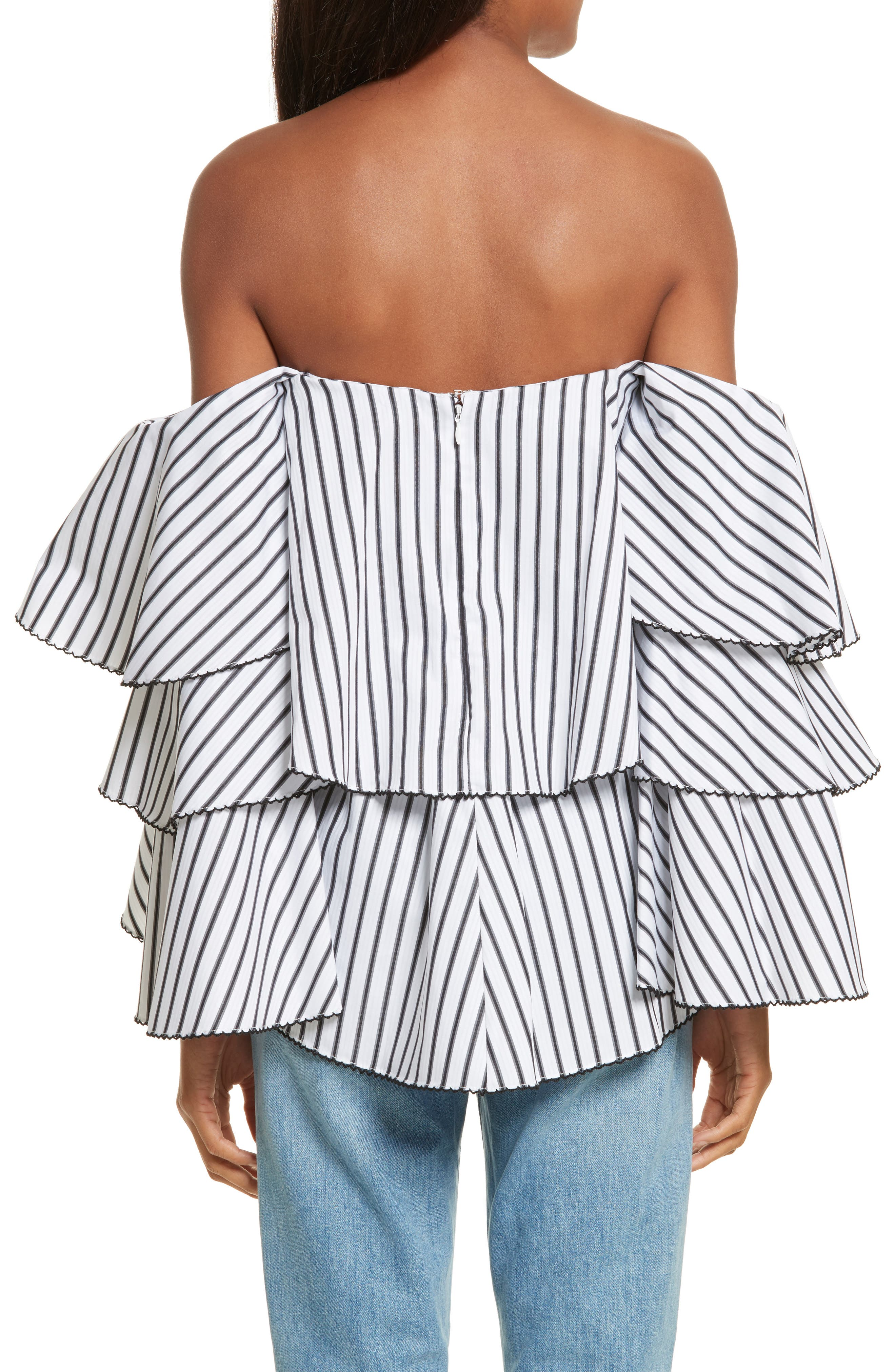 Carmen Ruffle Off the Shoulder Top,                             Alternate thumbnail 2, color,                             108