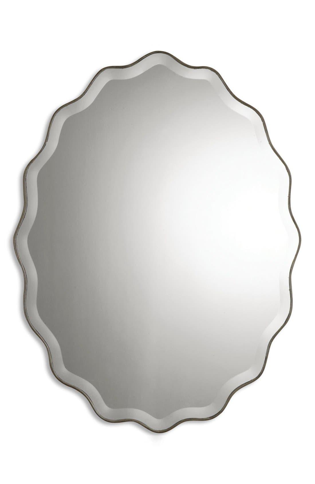 'Teodora' Ruffle Edge Mirror,                             Main thumbnail 1, color,                             100