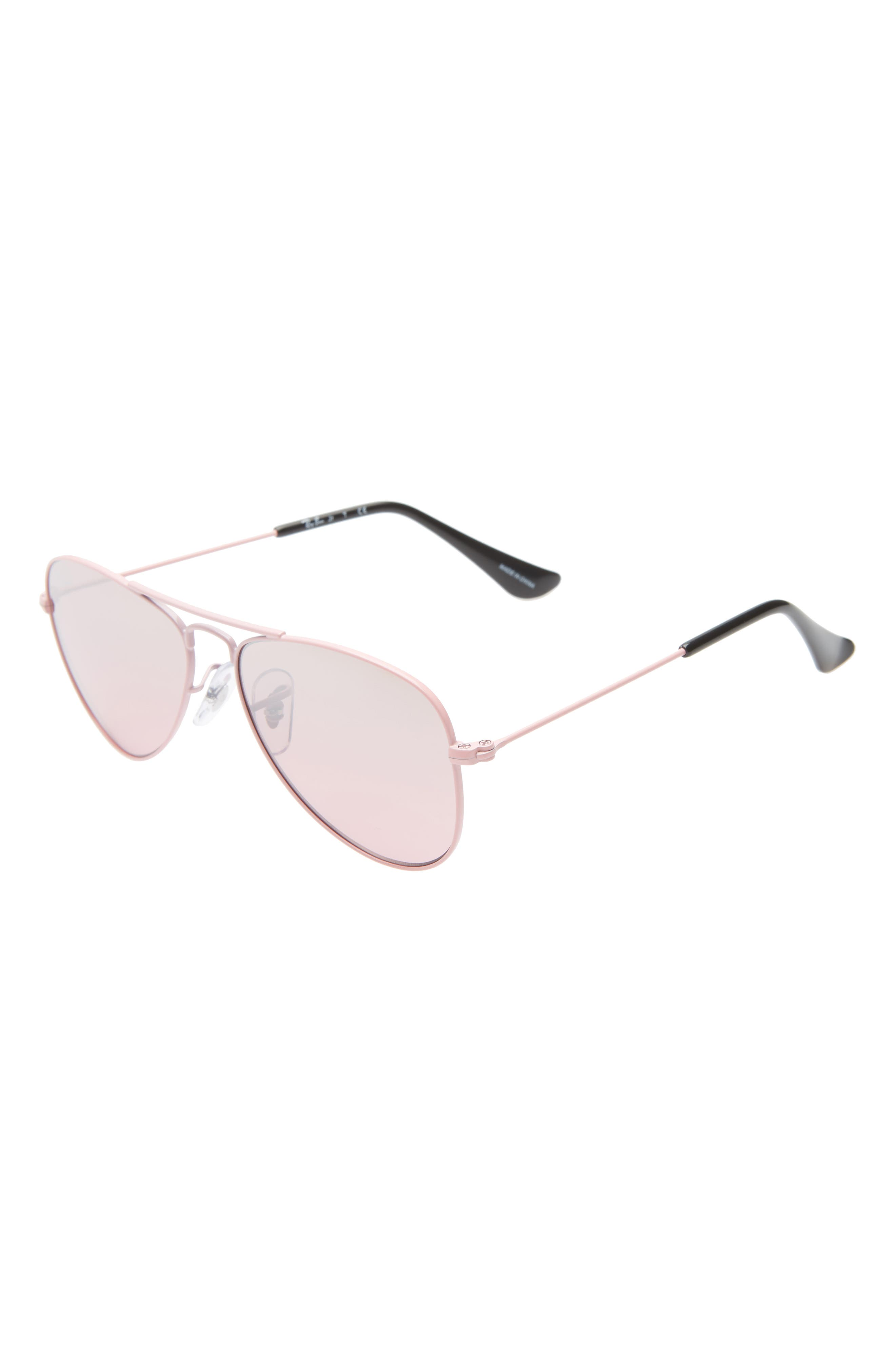 Ray-Ban Junior 50Mm Tinted Aviator Sunglasses - Pink/ Pink Gradient Mirror