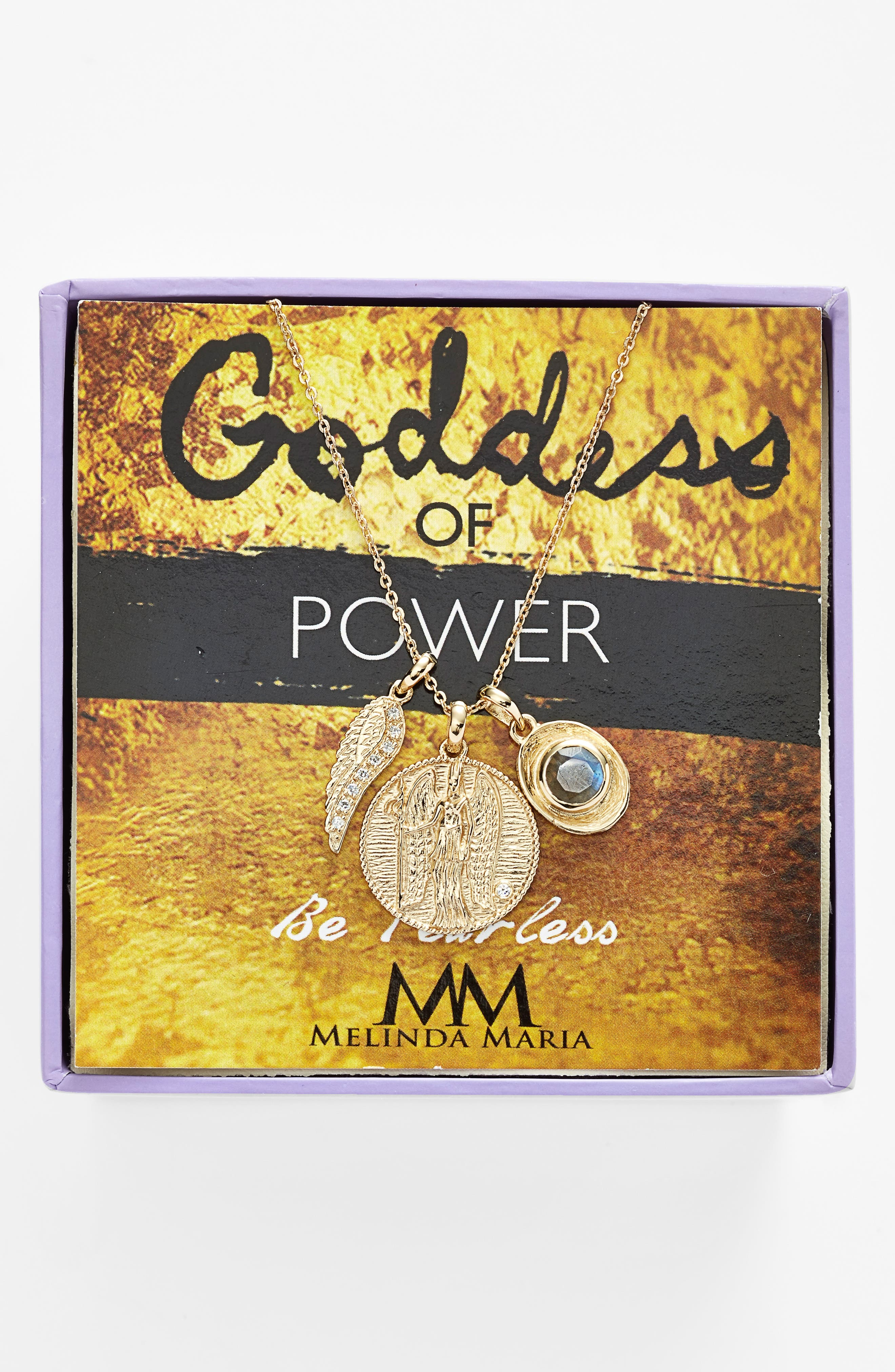 Goddess of Power Pendant Necklace,                             Main thumbnail 2, color,