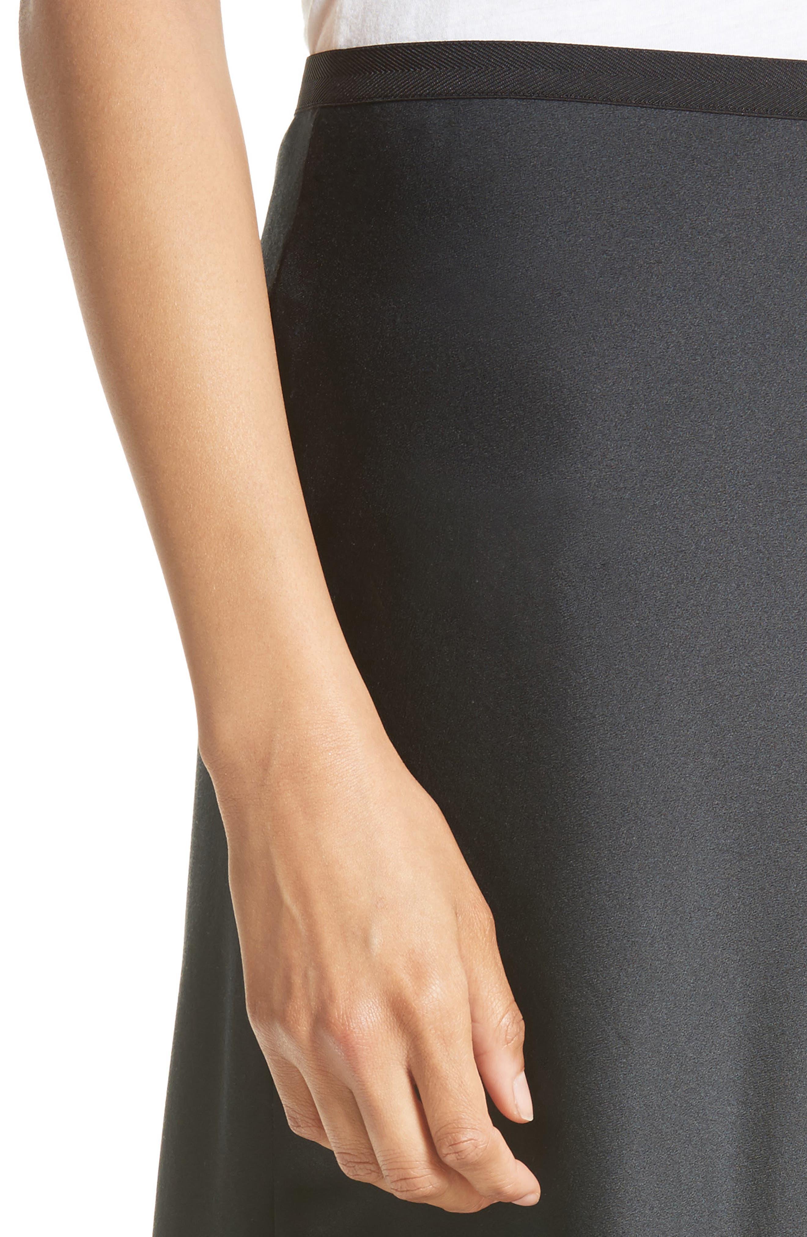 Elastic Waist Slip Skirt,                             Alternate thumbnail 4, color,                             001