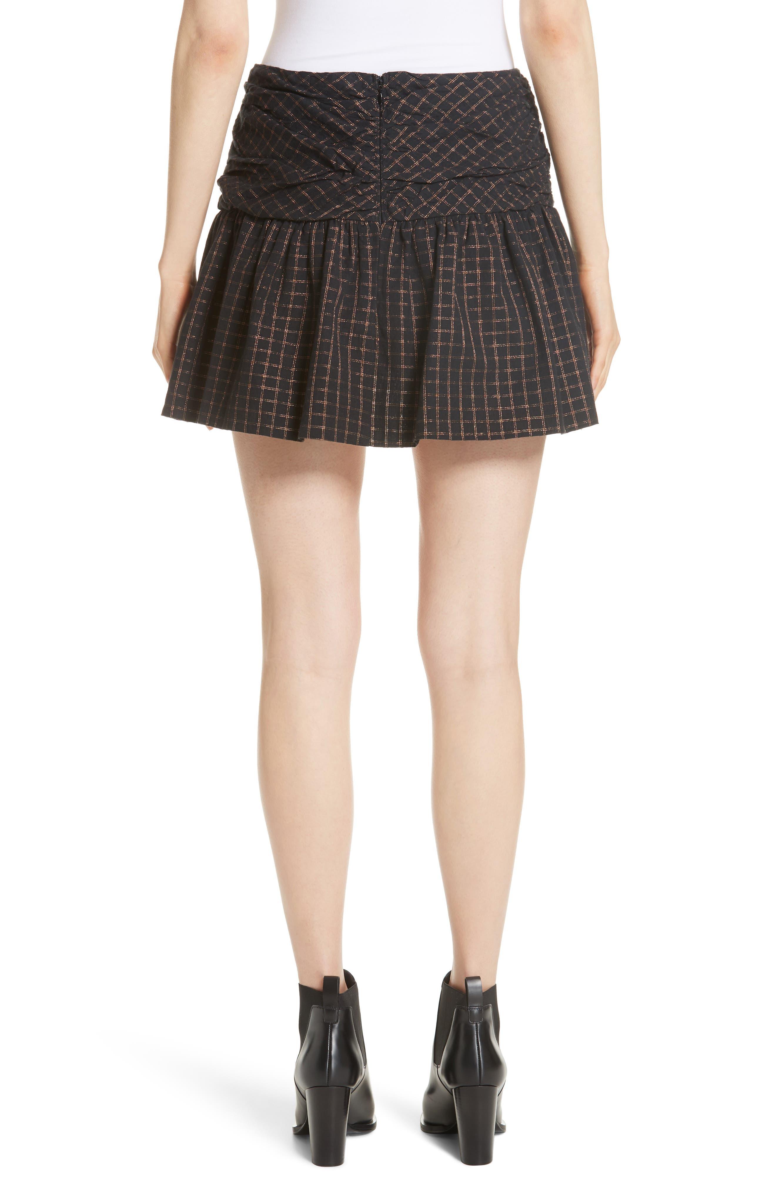 Sylvia Faux Wrap Mini Skirt,                             Alternate thumbnail 2, color,                             BLACK