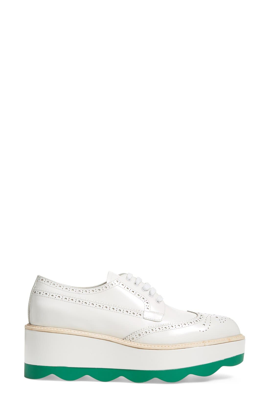 Scalloped Platform Oxford,                             Alternate thumbnail 24, color,
