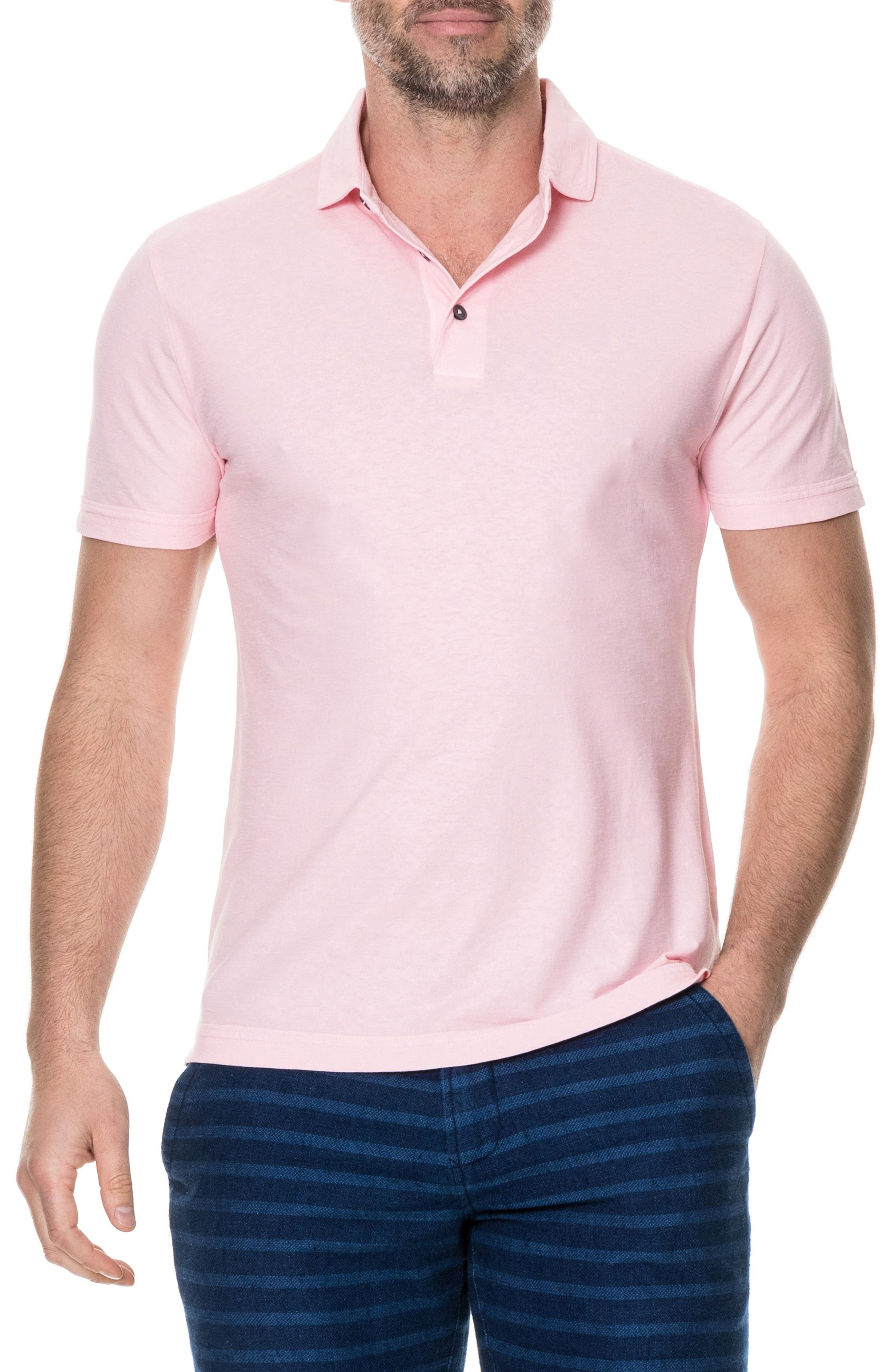 Wilsons Bay Sports Fit Polo,                         Main,                         color, ROSE