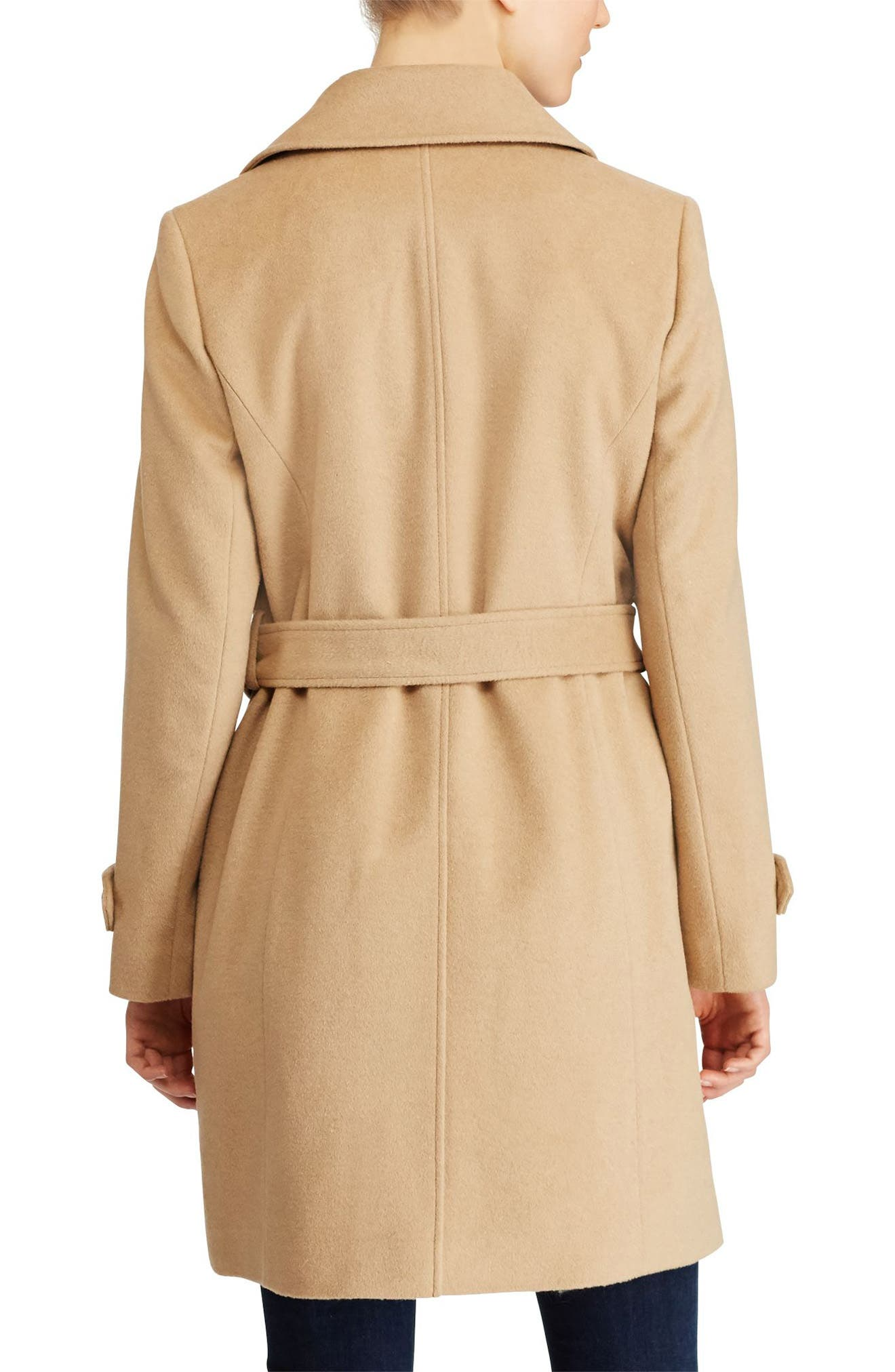 Wool Blend Trench Coat,                             Alternate thumbnail 3, color,
